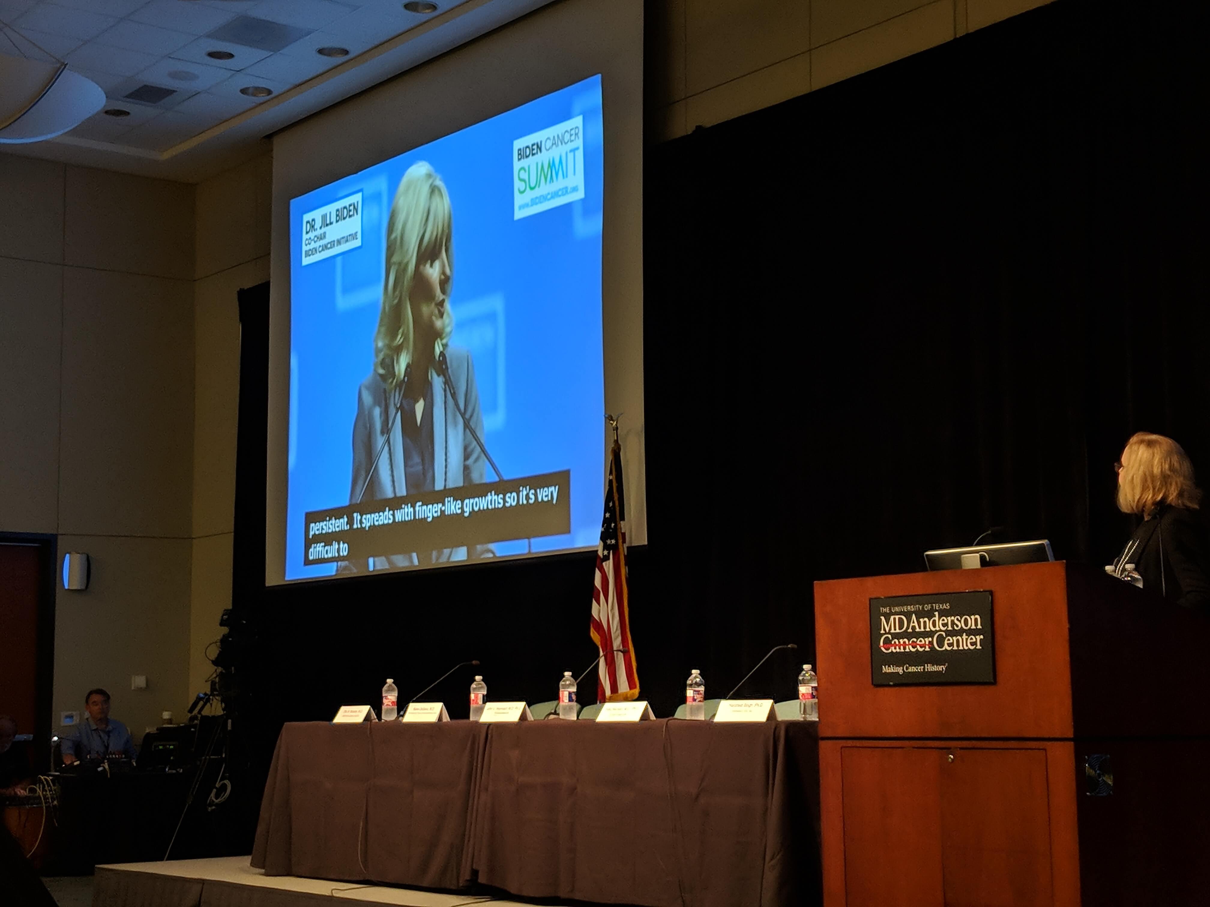 Dr. Jill Biden's speech was live-streamed during the event.