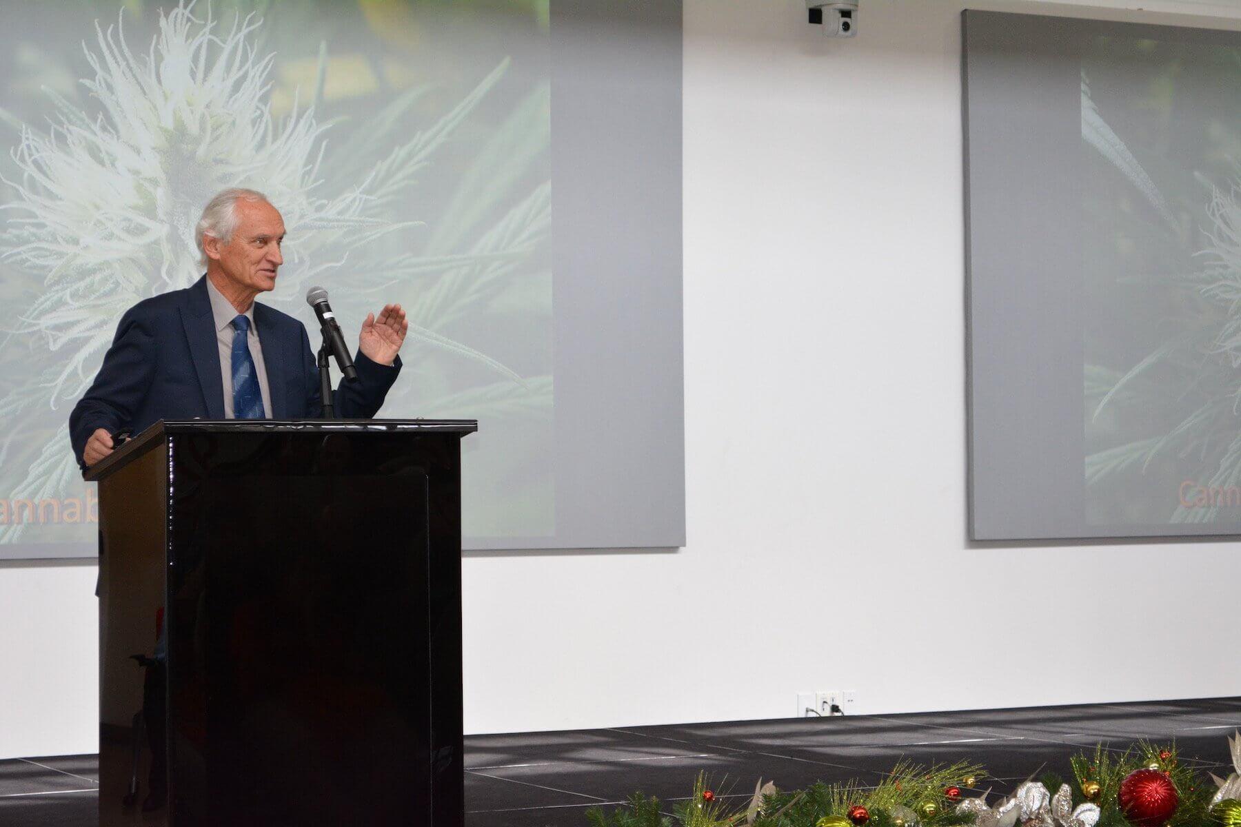 Keynote speaker Lumir Hanus, Ph.D., is a research fellow at the Hebrew University in Jerusalem, Israel.