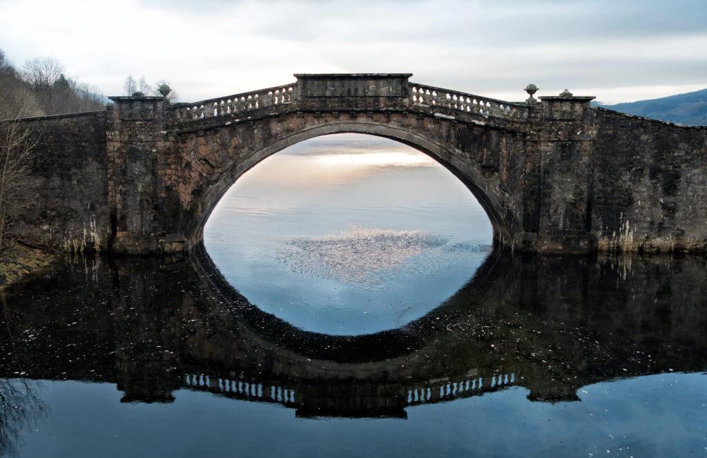 Winter Sunset_and_Garron Bridge