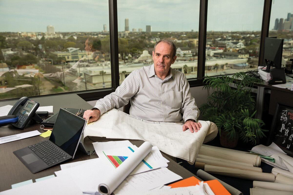 Robert Loiseau, president and CEO of the Non-Profit Housing Corporation of Greater Houston, at his office.