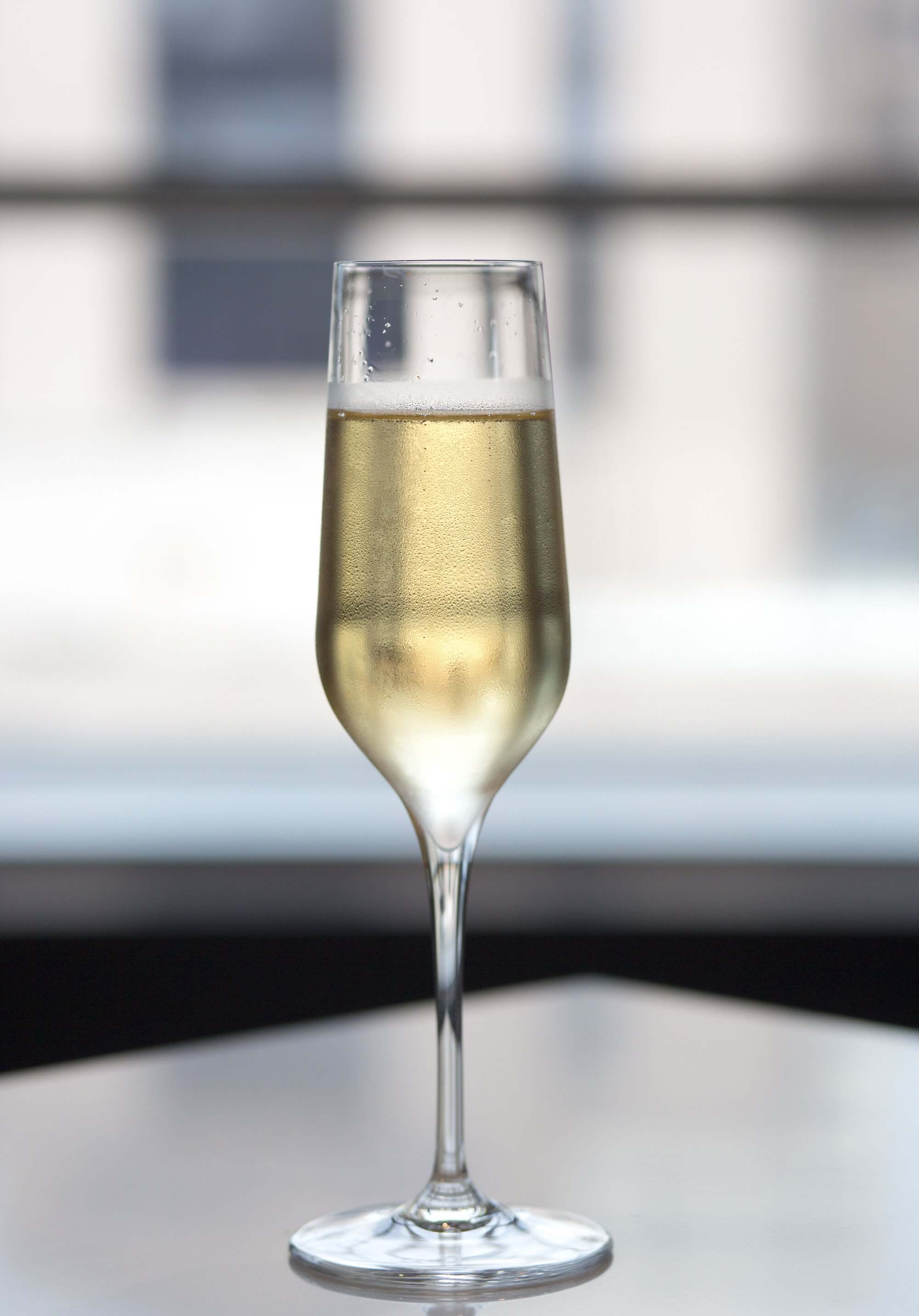 A glass of champagne averages 84 calories