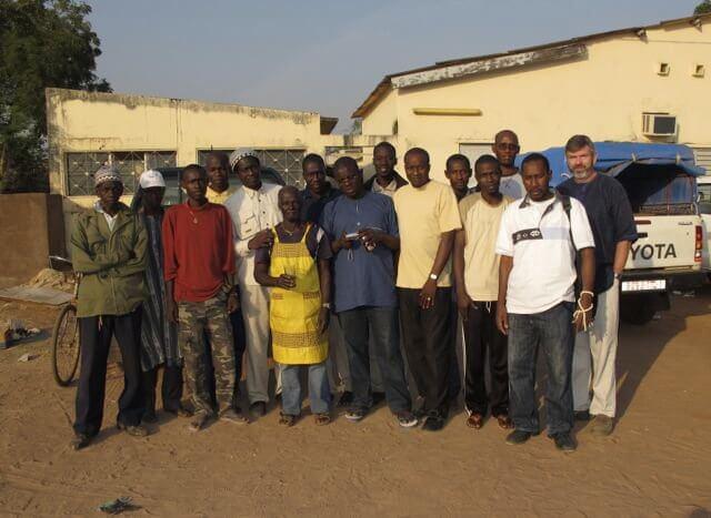 Weaver with the chikungunya team in Senegal (Photo courtesy UTMB)