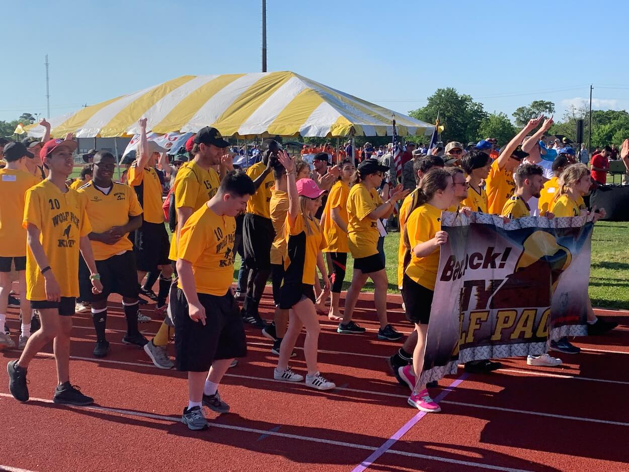Special Olympics athletes with The Katy Wolfpack have arrived!