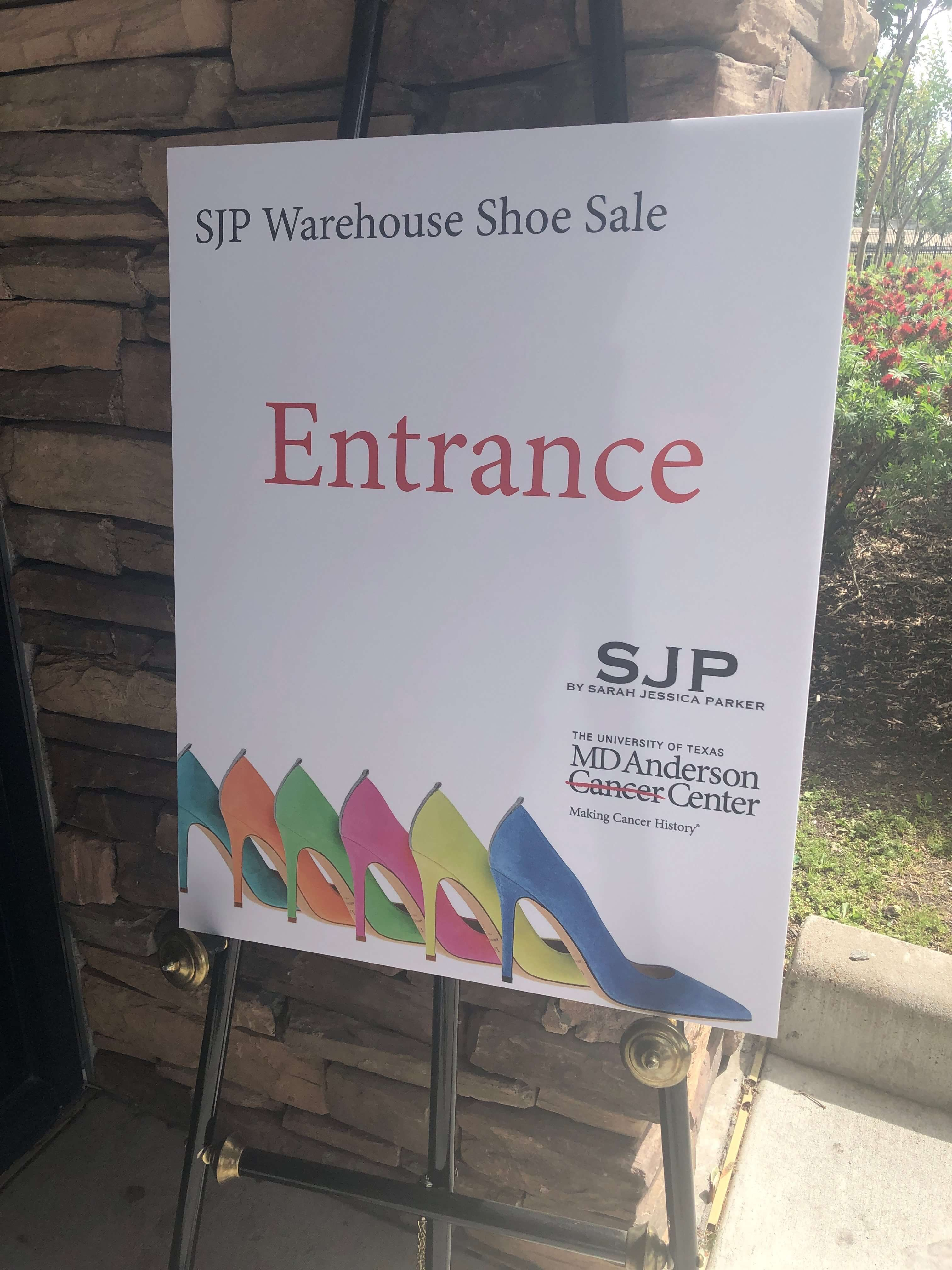 Thousands lined up for the SJP Warehouse Shoe Sale at the Bayou City Event Center.
