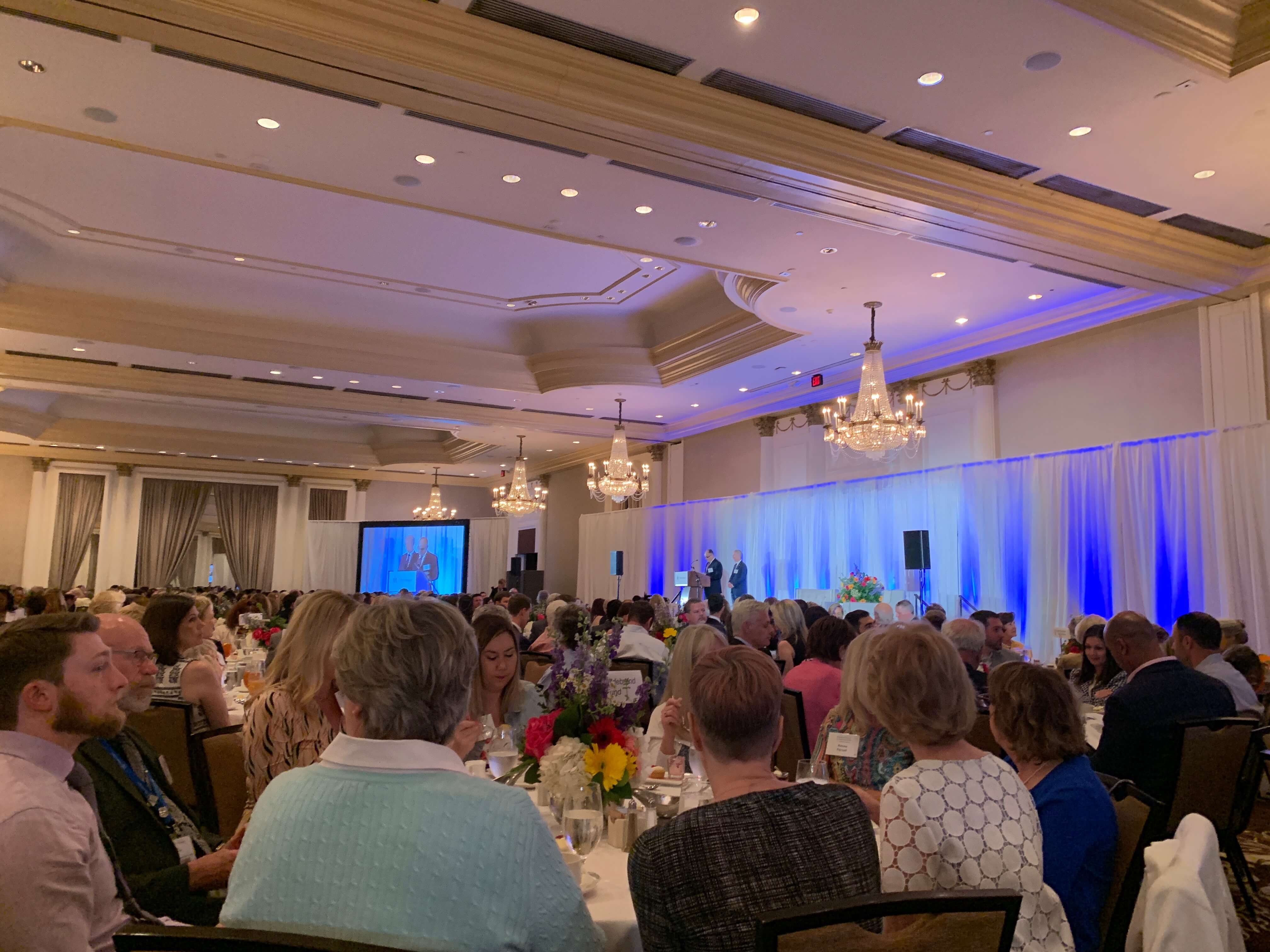 Hundreds of guests gathered for the annual luncheon.
