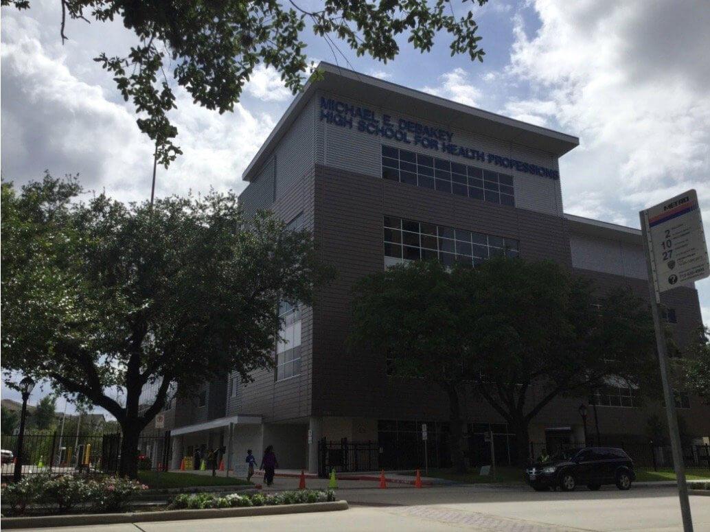 The brand new Michael E. DeBakey High School for Health Professions.
