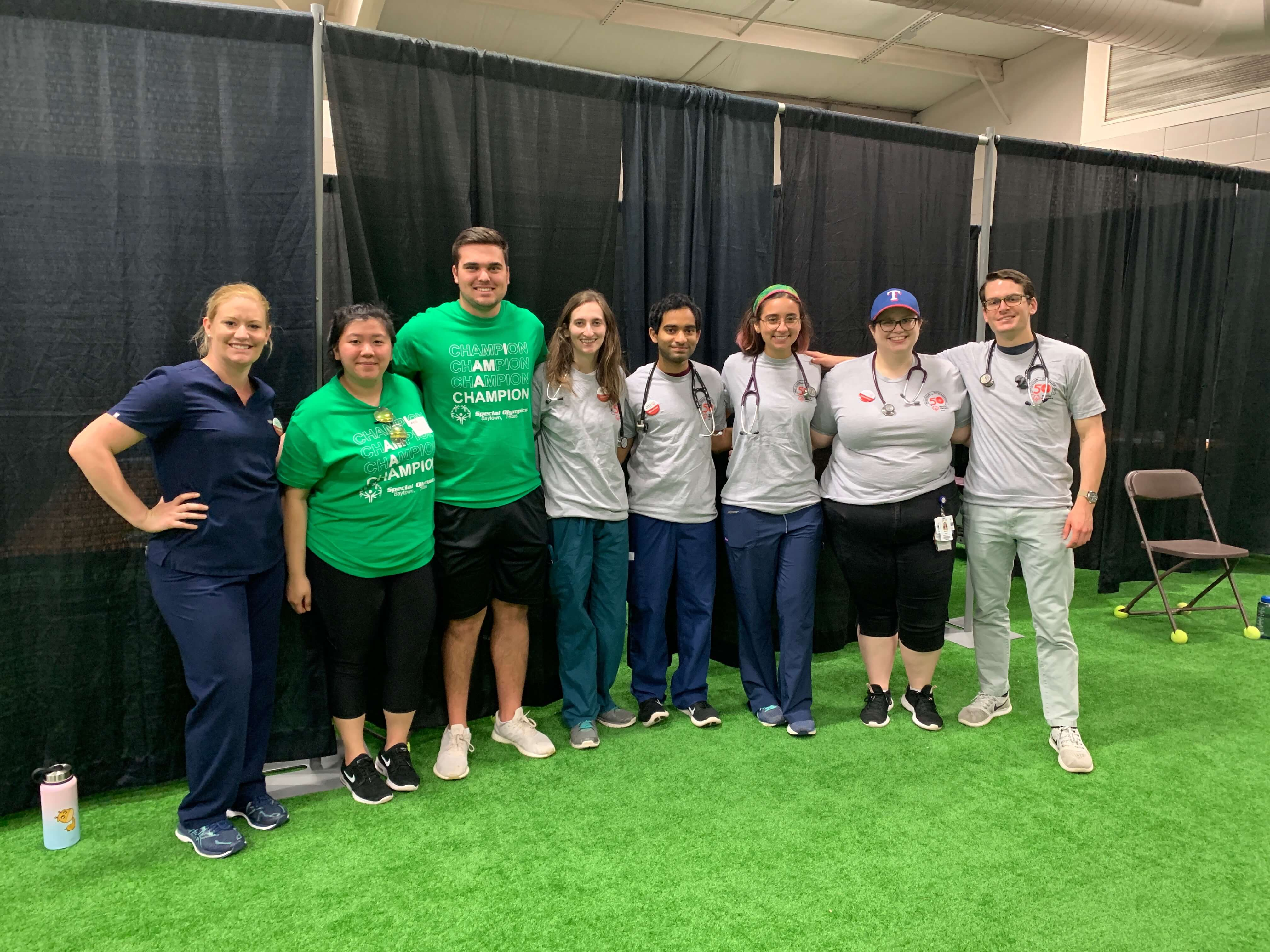Students from the UTHealth School of Dentistry, the University of Houston and Baylor College of Medicine provided care to the Special Olympics athletes.