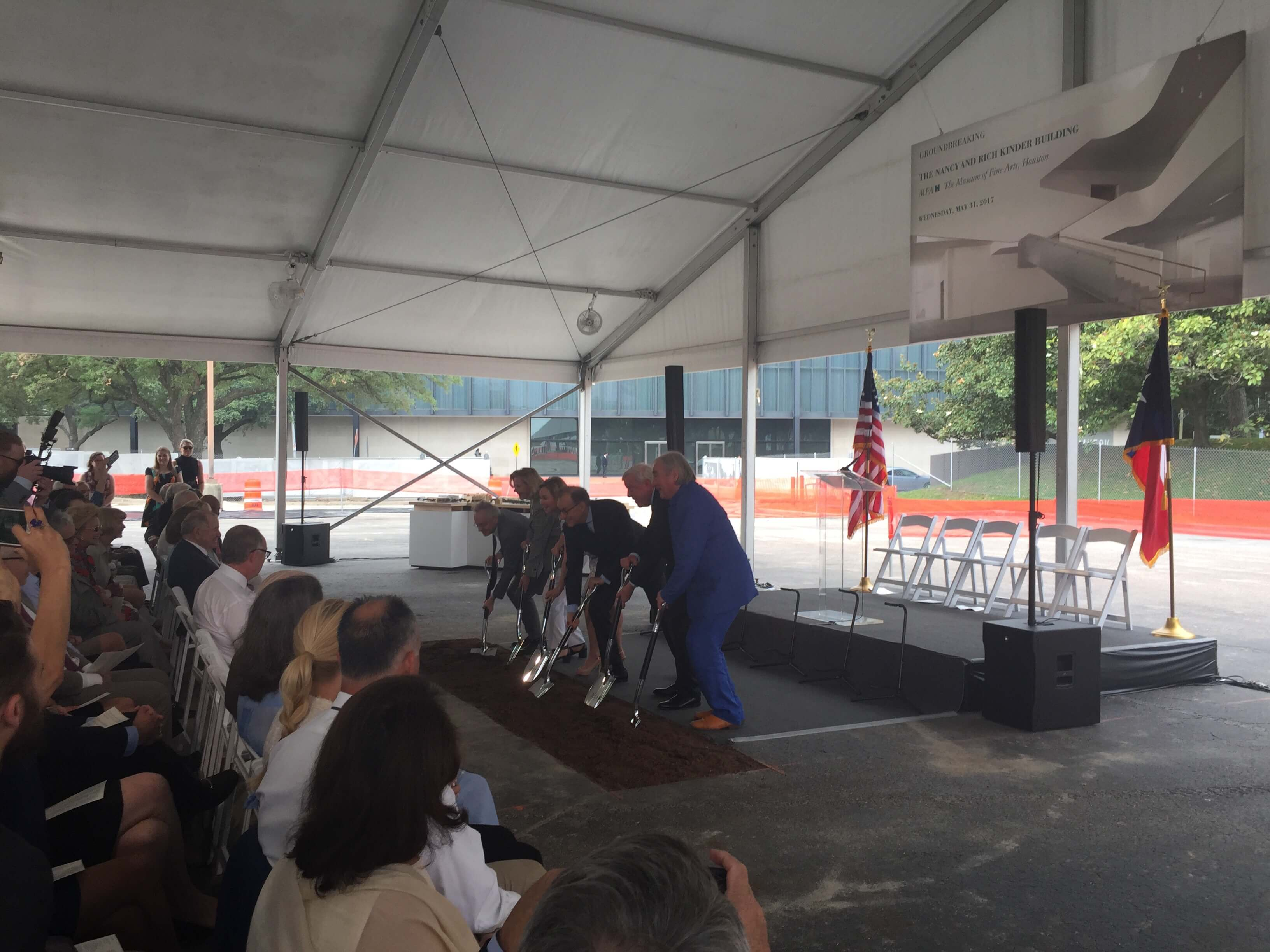 Digging in! MFAH officially breaks ground on the Nancy and Rich Kinder Building.