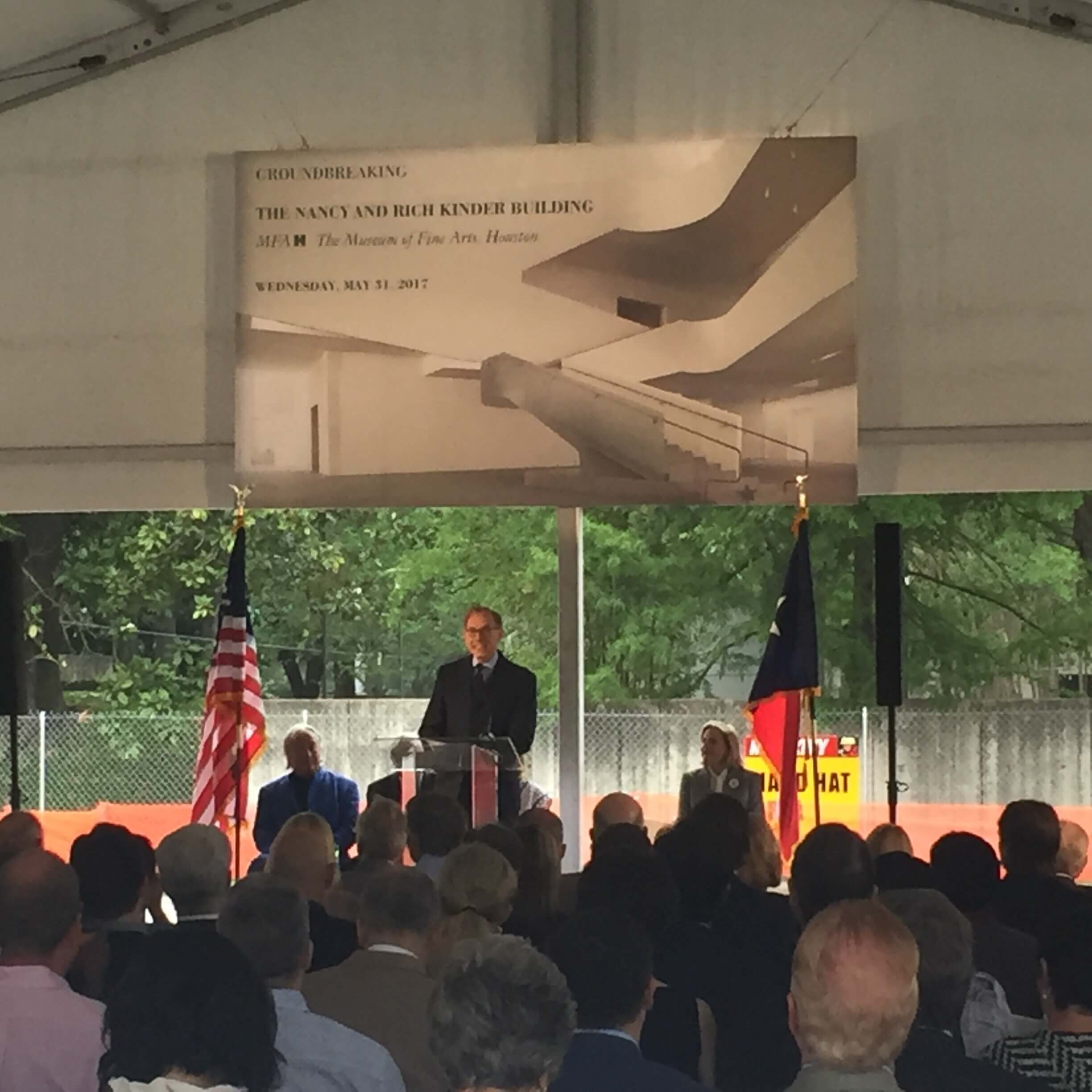 MFAH director, Gary Tinterow speaks at the groundbreaking ceremony.