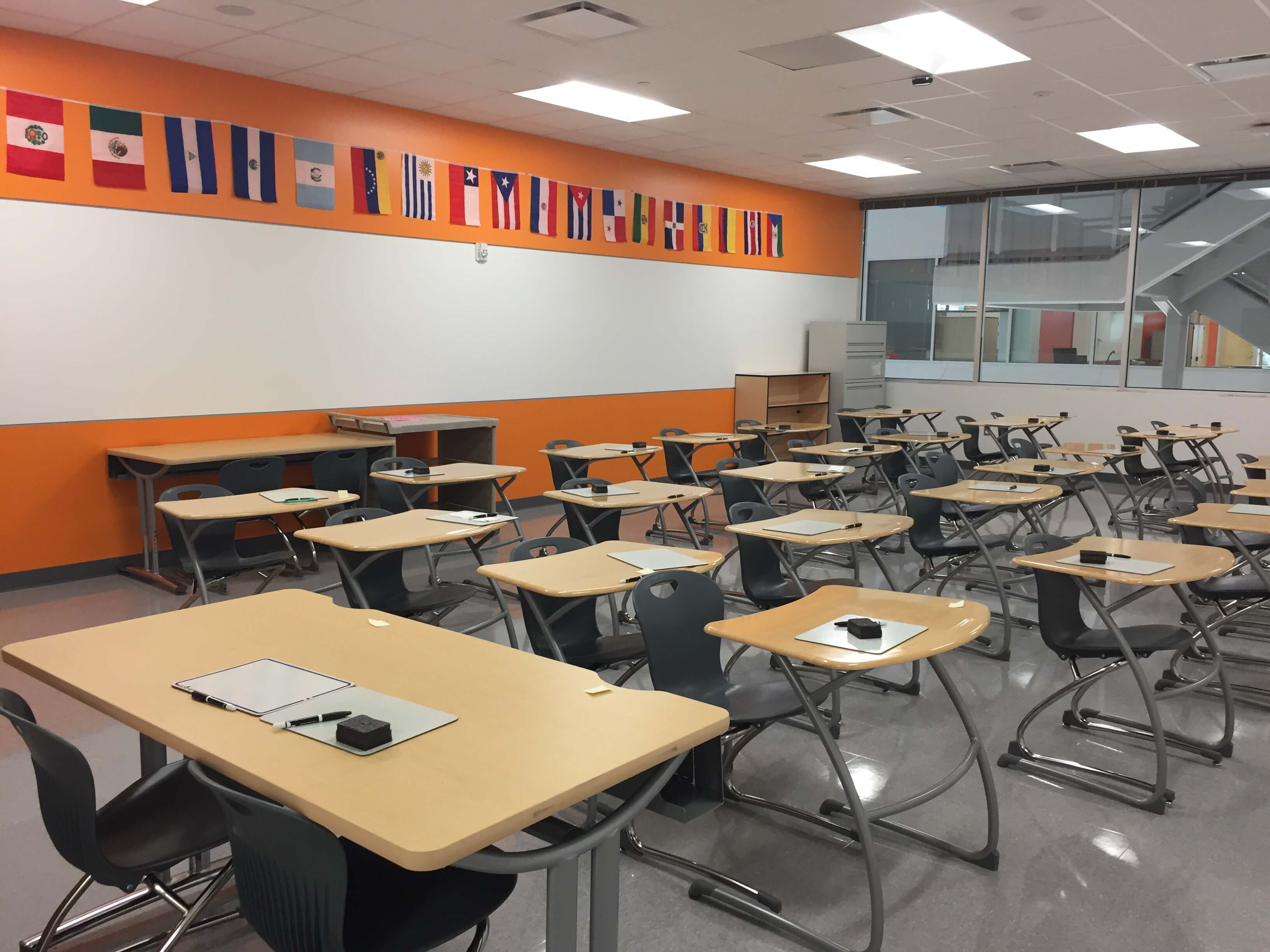 Classroom in the new building.