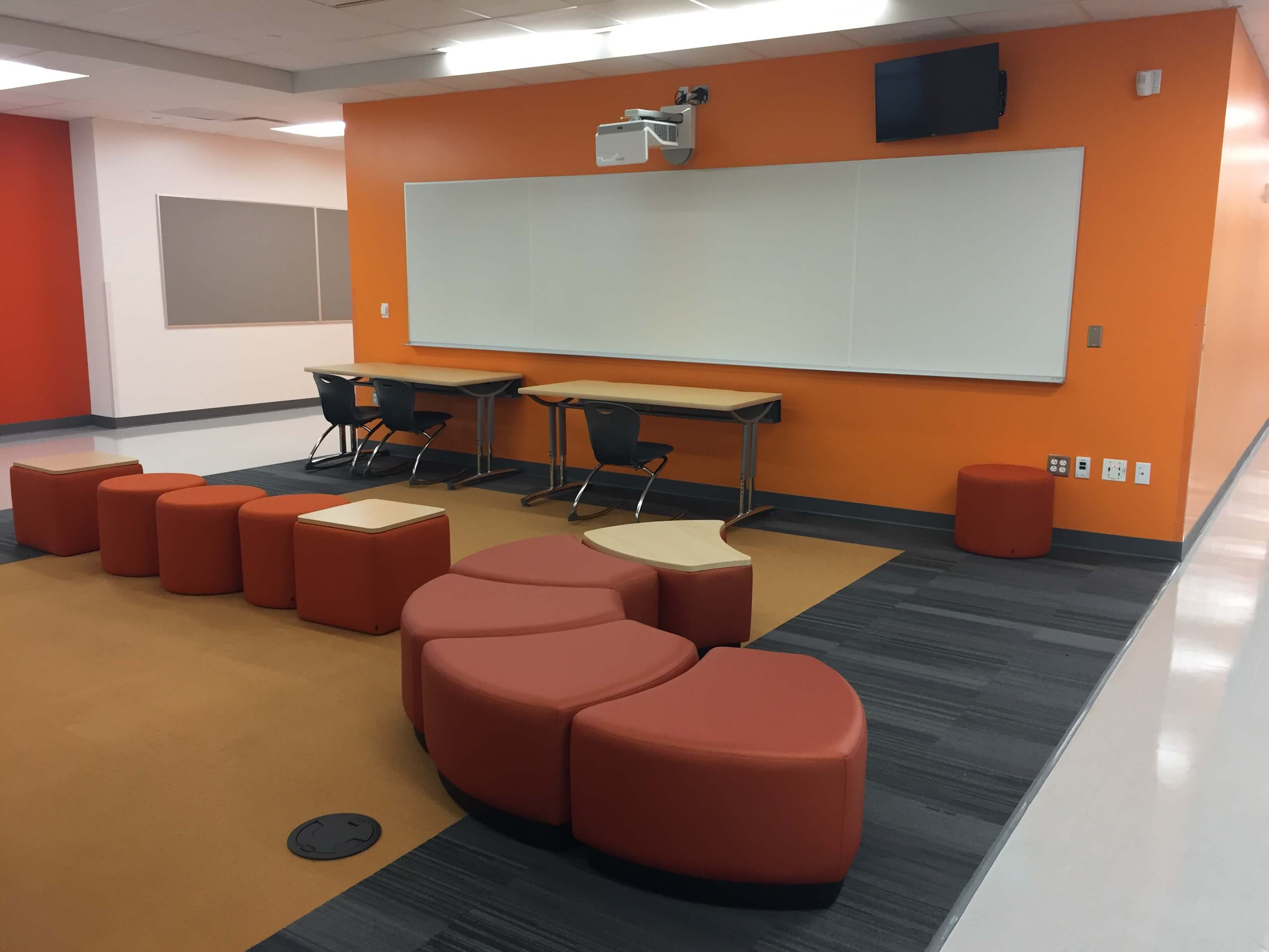 Common area in the new building.