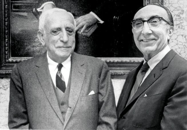 Ben Taub and Michael E. DeBakey (Credit: Harris Health)