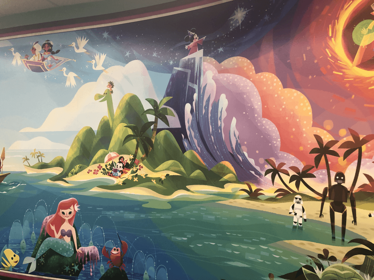Scenes from Disney classics are reimagined in the Texas Children's Legacy Tower.