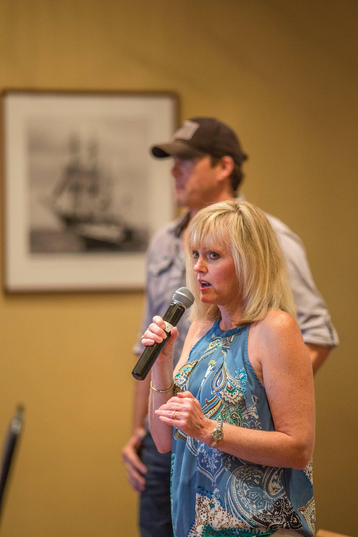 Brenda Cheney, a Hodgkin's Lymphoma survivor, has worked for nearly a decade on the regatta.