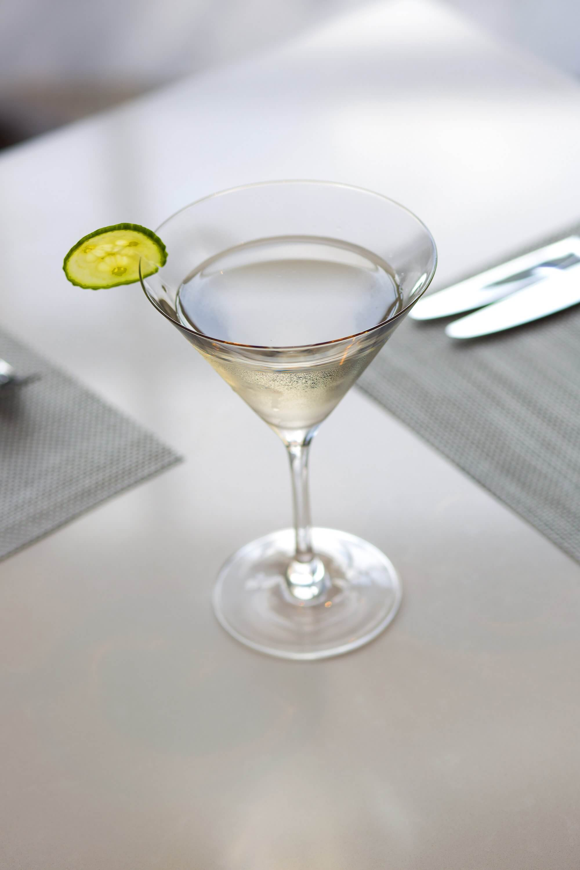 A classic Martini averages 124 calories per drink
