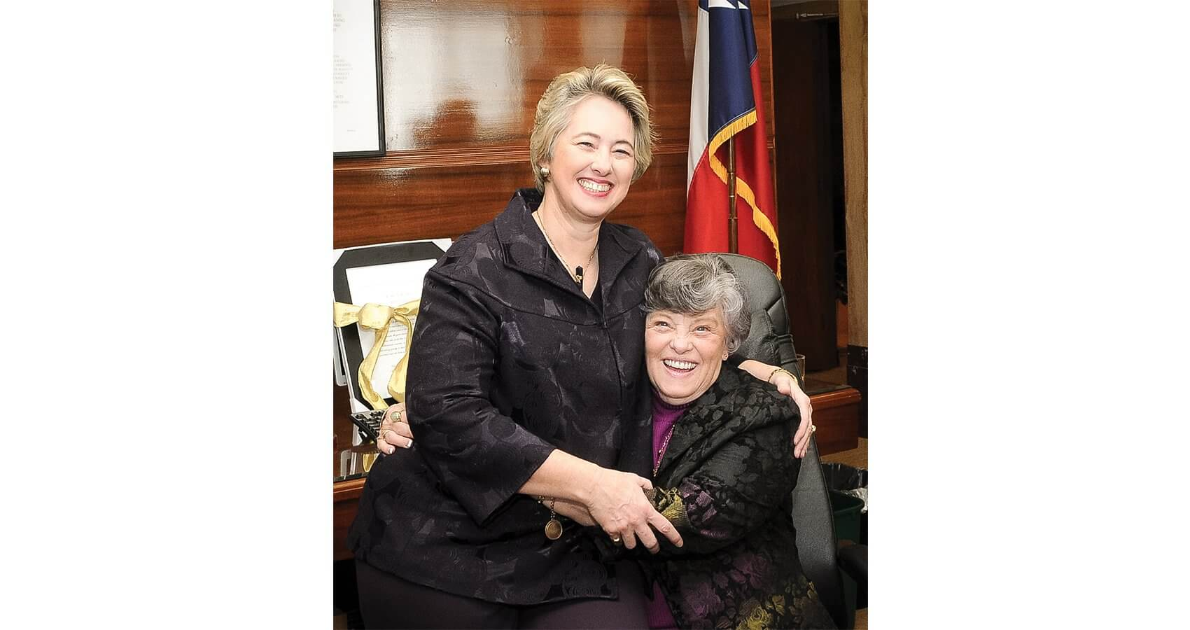 Parker and her mother (Credit: Office of the Mayor, Houston, Texas)