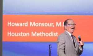 Howard Monsieur, M.D., speaks at the inaugural TMC Hispanic Transplant Symposium on Oct. 6.
