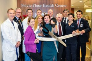 Physicians and administrators celebrate the opening of the PELVIC FLOOR HEALTH CENTER at Memorial Hermann Memorial City Medical Center.