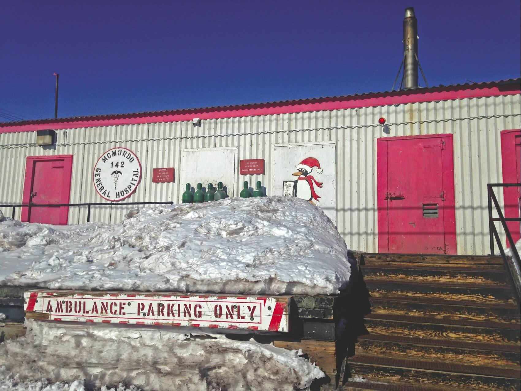 McMurdo General Hospital, the largest medical facility in Antarctica, provides both acute care and inpatient treatment. (Photo provided by James Pattarini)