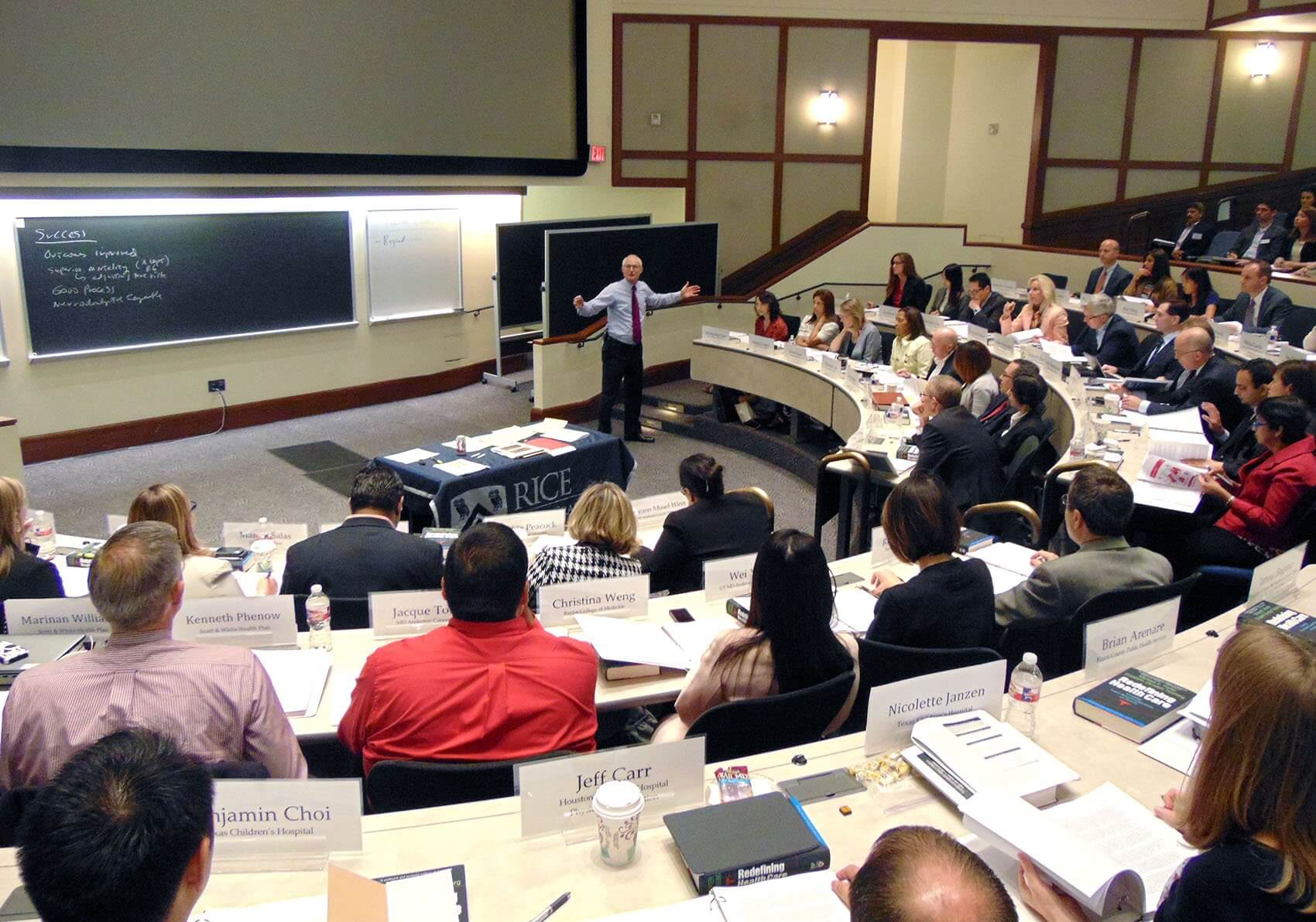 Held at Rice University's Jesse H. Jones Graduate School of Business, this is the second year that the Texas Medical Center has hosted the course.