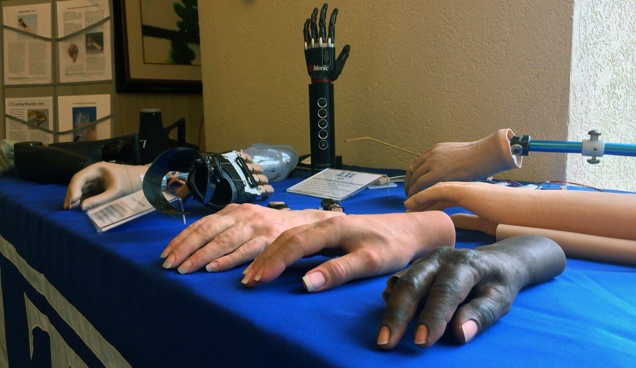 Prosthetics on display at the Skills for Life 4 workshop.