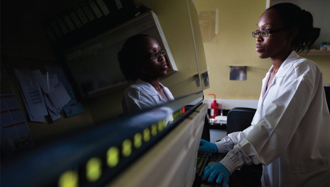 As part of Human Heredity and Health in Africa (H3Africa), researchers with Baylor College of Medicine are partnering with universities in Uganda and Botswana to provide infrastructure and training for the continent's genomics research. (Credit: Smiley Pool)