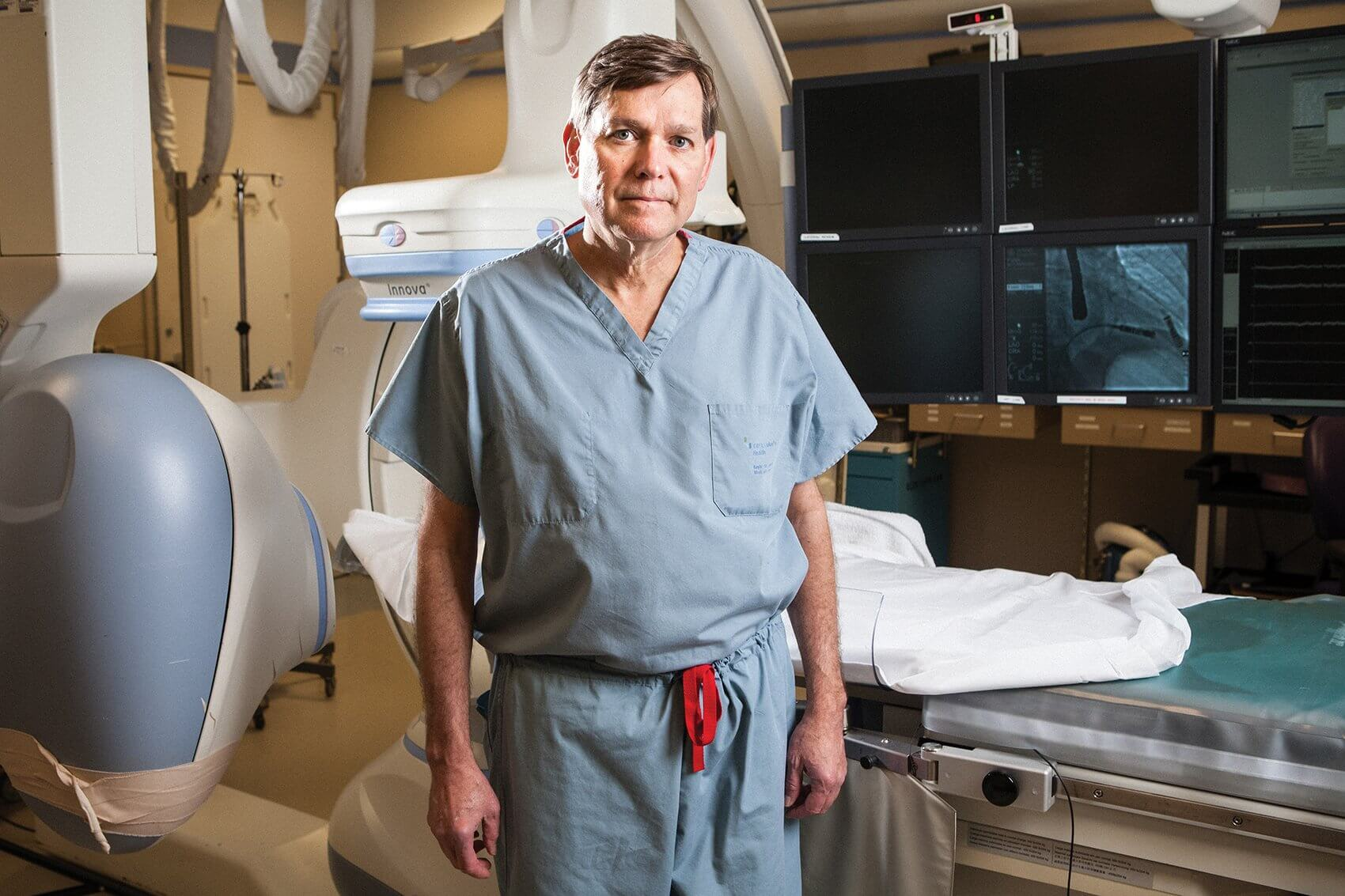 John Seger, M.D., performed the procedure to implant the Micra transcatheter pacemaker.