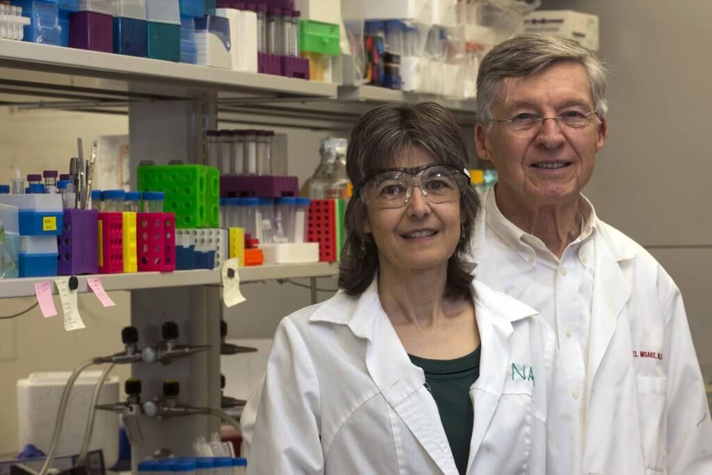 Rice bioengineering researchers Nancy Turner and Joel Moake discovered that blood-clotting factor VIII is both stored and secreted from endothelial cells, which make up the inner lining of blood vessels. (Credit: J. Fitlow/Rice University)