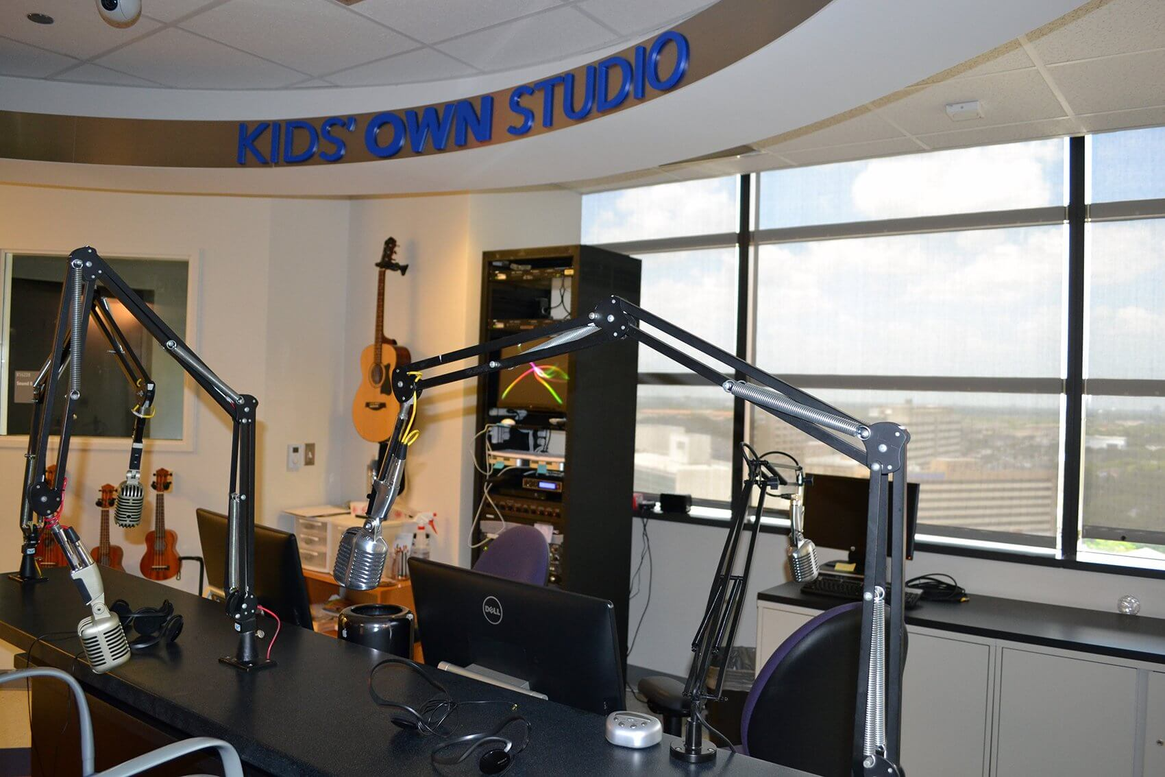 The studio where parts of the video were filmed.