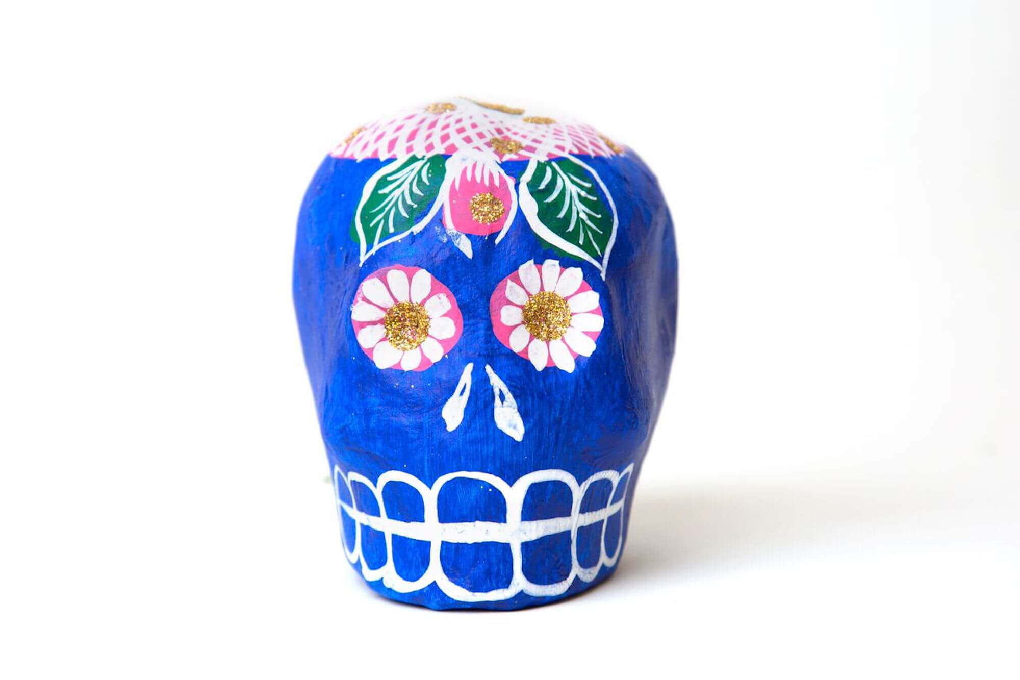 A paper skull for Day of the Dead, from Casa Ramirez Folkart Gallery, 241 W. 19th St.