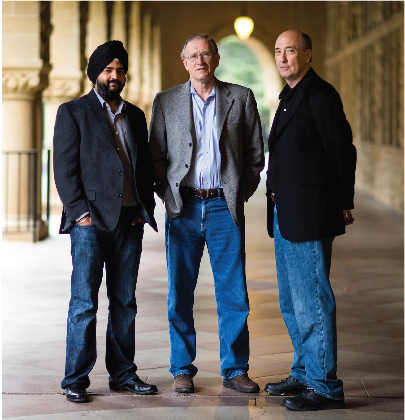 From left to right—Gurjeet Singh, Ph.D., Gunnar Carlsson, Ph.D., and Harlan Sexton, Ph.D., founded Ayasdi in 2008 to commercialize their research in topological data analysis.