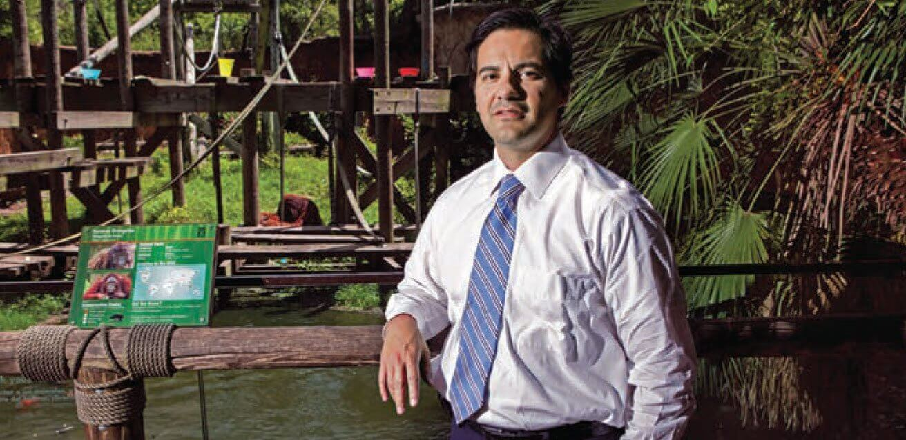 In addition to caring for patients at MD Anderson, Jose Banchs, M.D., works with the Houston Zoo to help treat primates suffering from heart disease.
