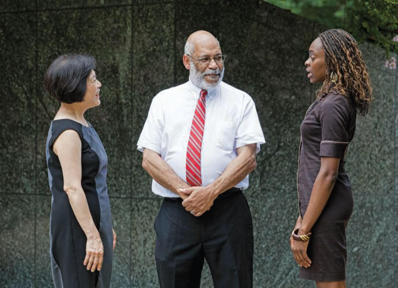 From Left: Beverly J. Gor, Ed.D., Lovell A. Jones, Ph.D., and Jasmine J. Opusunju, Dr.P.H.