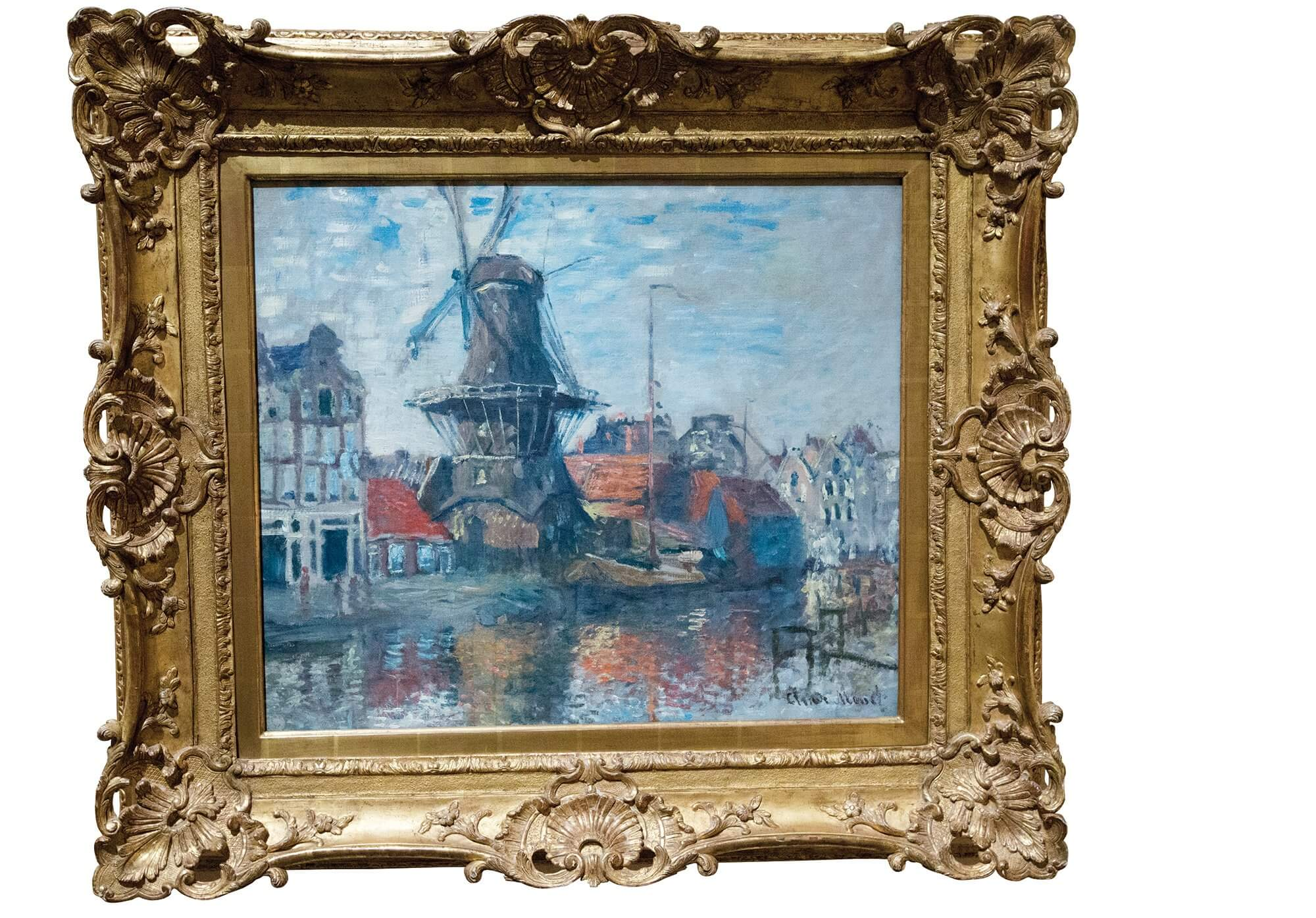 The Windmill on the Onbekende Gracht, Amsterdam, 1874.