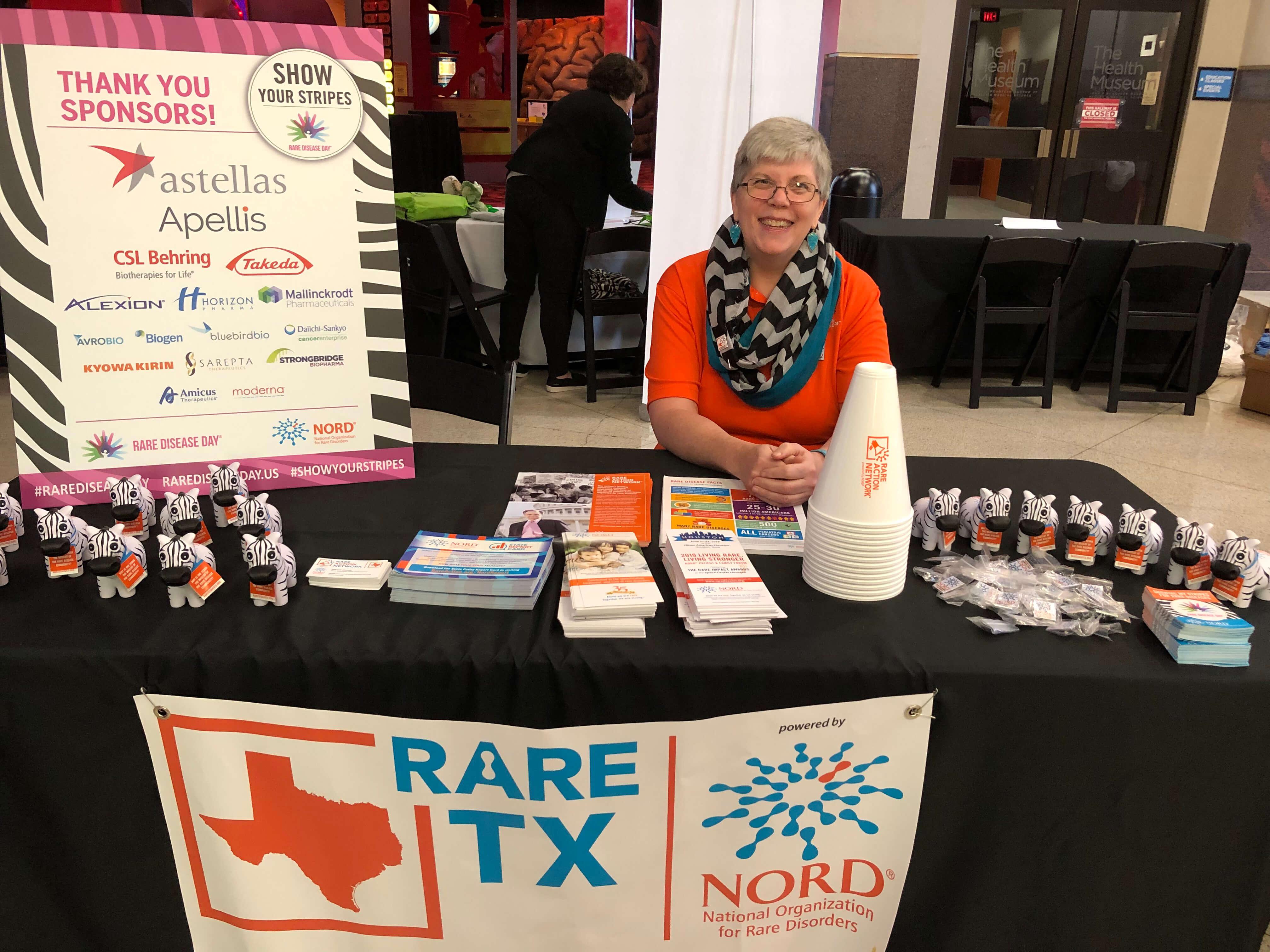 Deborah Skolaski raising awareness at The Health Museum during Rare Disease Day in February. (Photo courtesy of Deborah Skolaski)