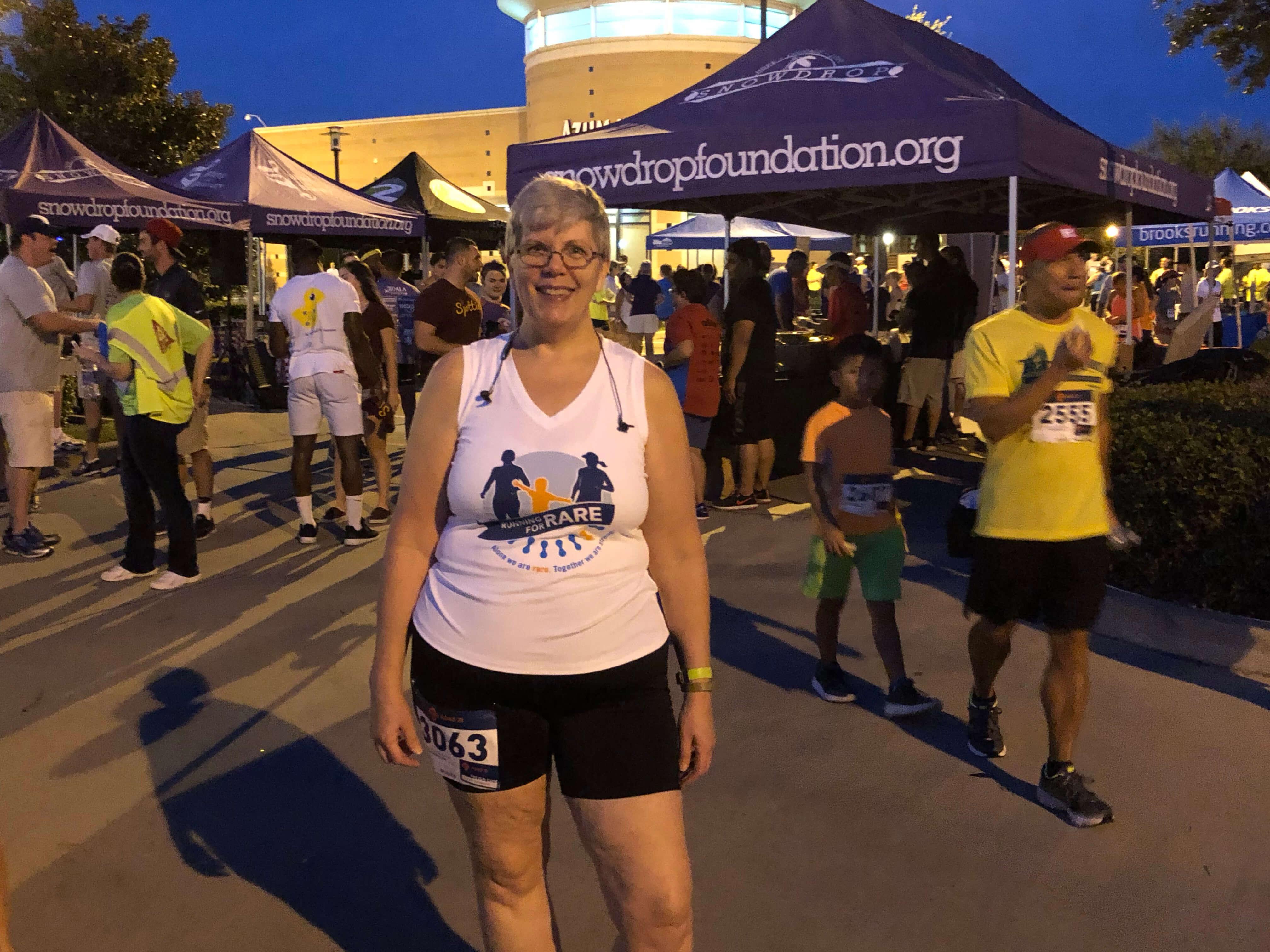 Deborah Skolaski runs half-marathons to raise awareness and funds for NORD. (Photo courtesy of Deborah Skolaski)
