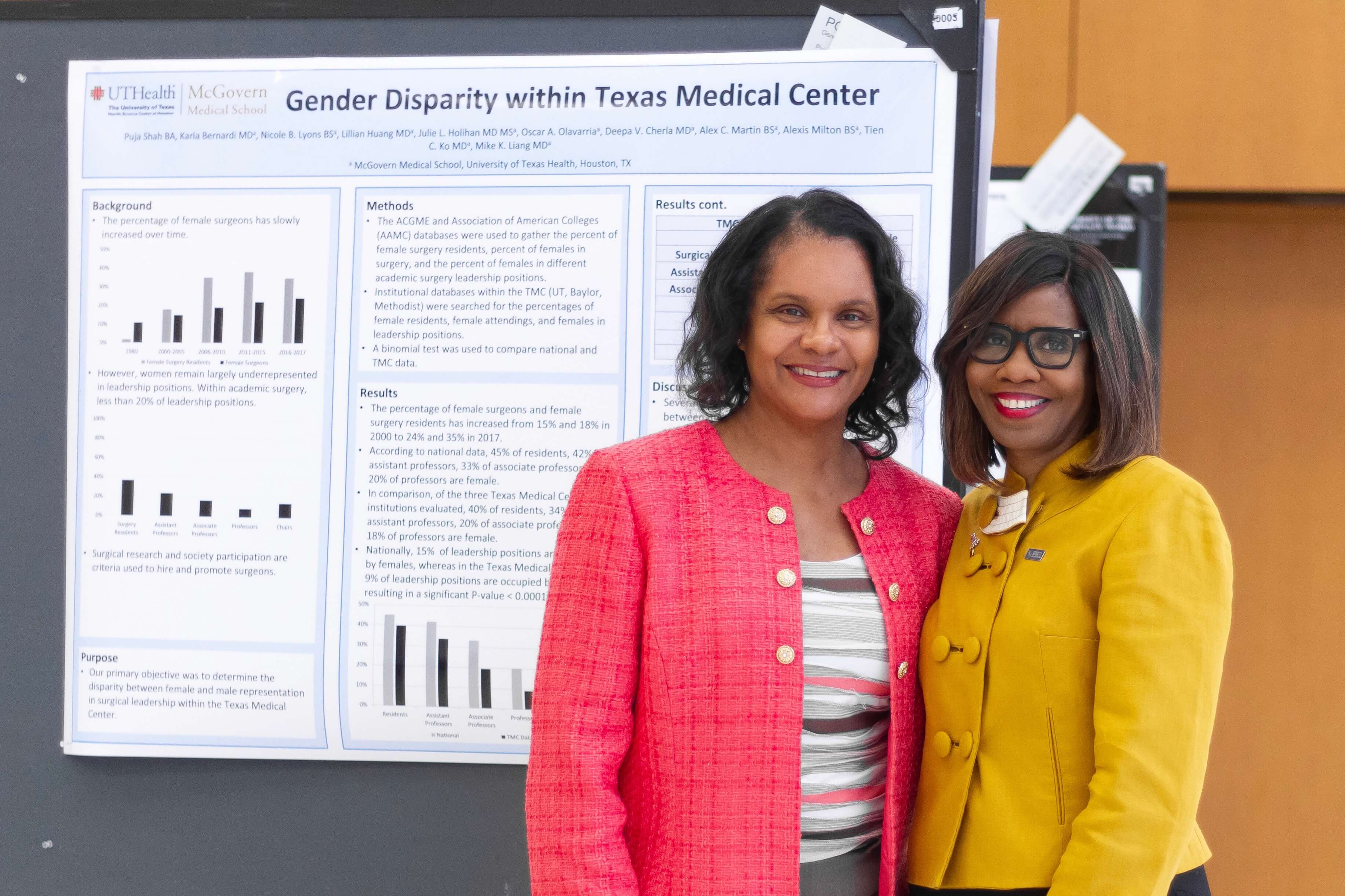 Toi Blakley Harris, M.D., Baylor College of Medicine's Associate Provost of Institutional Diversity and Inclusion & Student Services, left, with Patrice Harris, M.D.—who became the 174th president of the American Medical Association in June 2019—at Baylor College of Medicine on June 18, 2019. (Photo courtesy of Baylor College of Medicine)