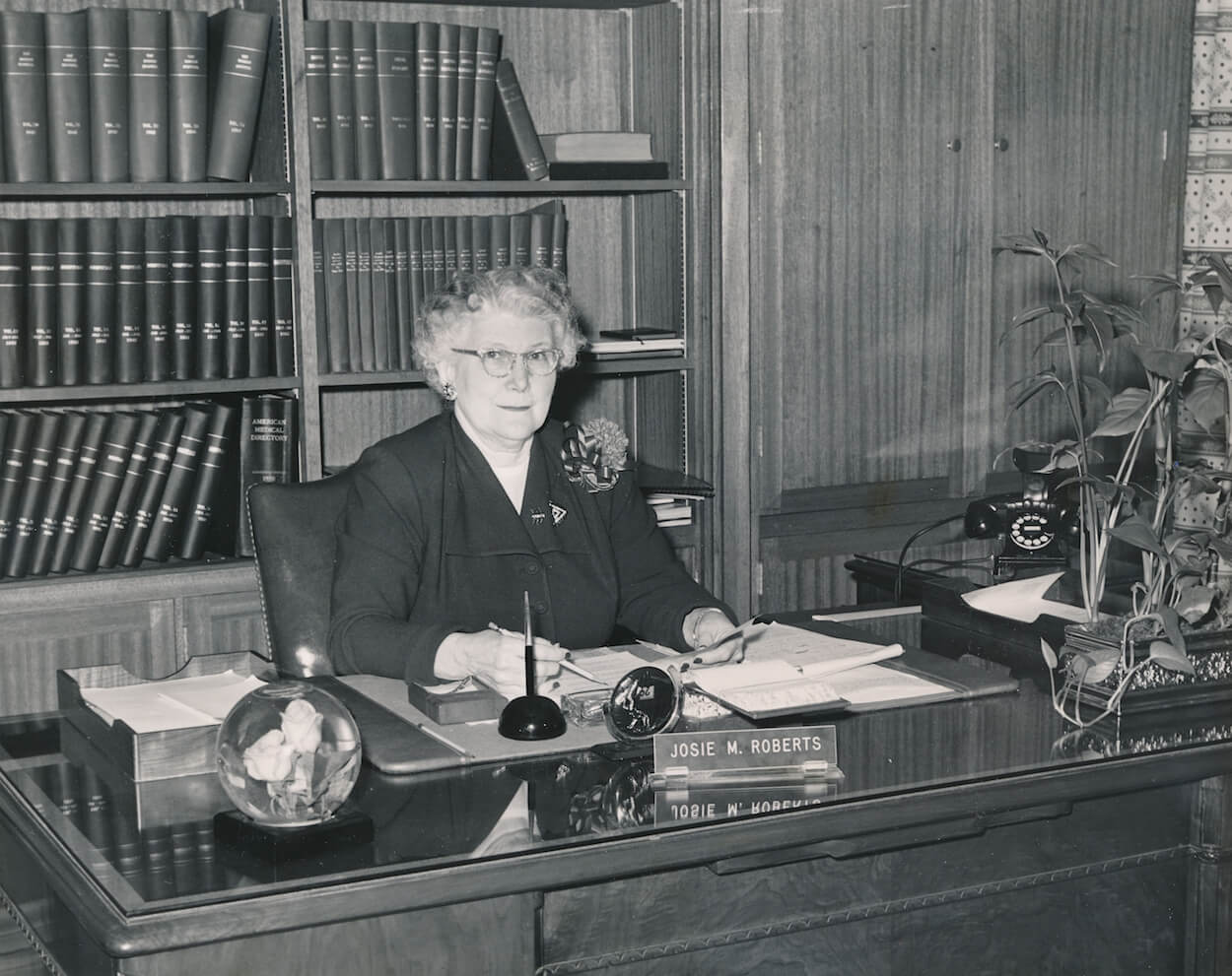 Josie Roberts, who kept Houston Methodist running during the Great Depression, also was instrumental in moving the hospital to the Texas Medical Center.