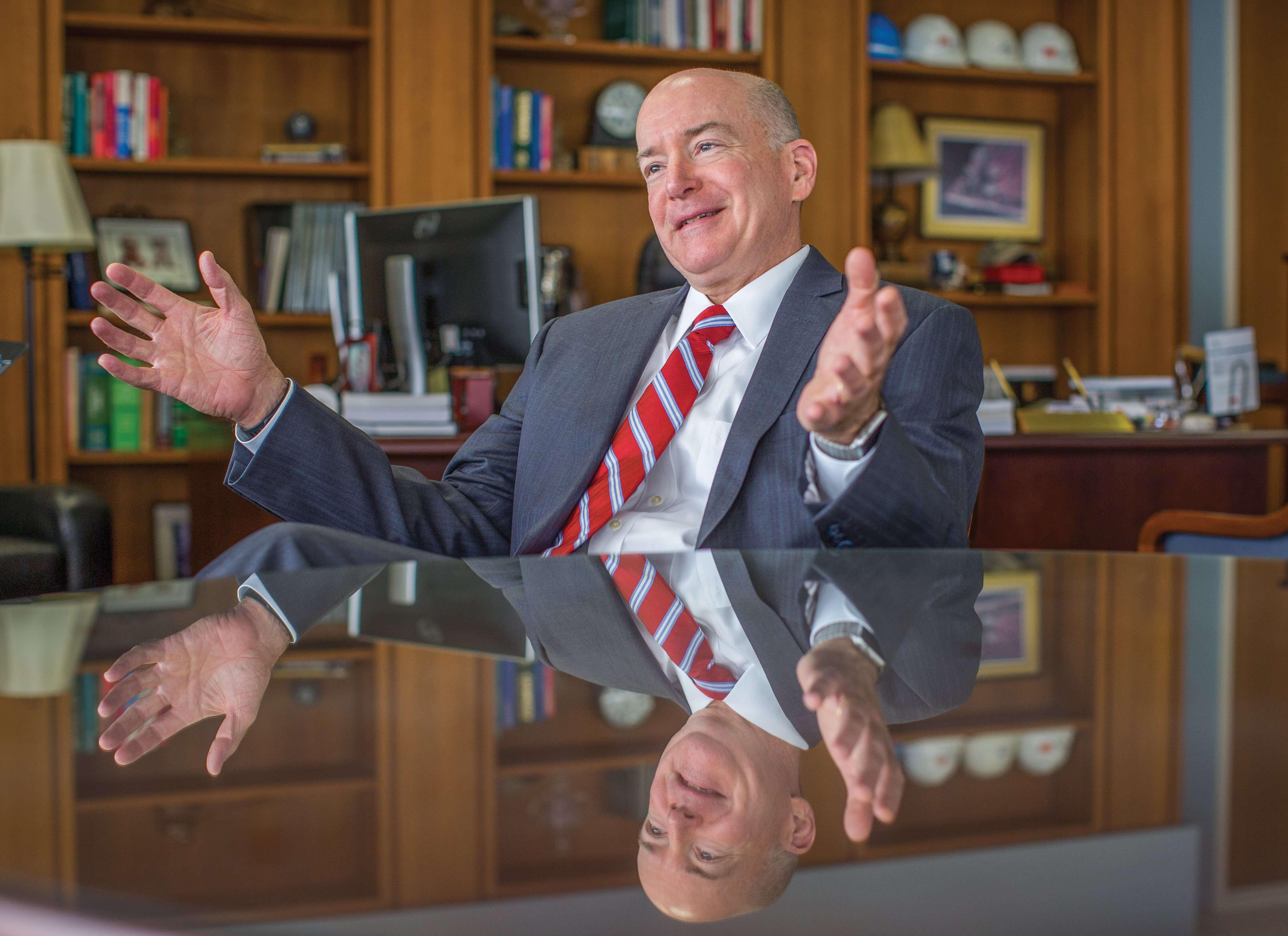 David L. Callender, M.D., in 2016 as president of the University of Texas Medical Branch at Galveston. (Credit: Nick de la Torre)