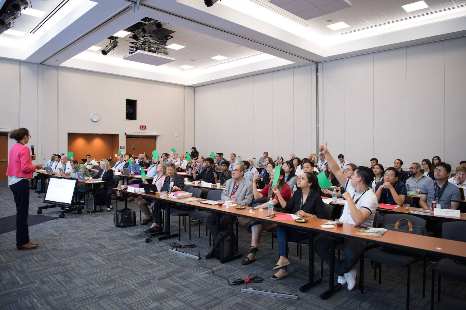 Teams participate in an interactive lecture during the October 2019 session of the MD Anderson I-Corps Regional Program. (Credit: The University of Texas MD Anderson Cancer Center)