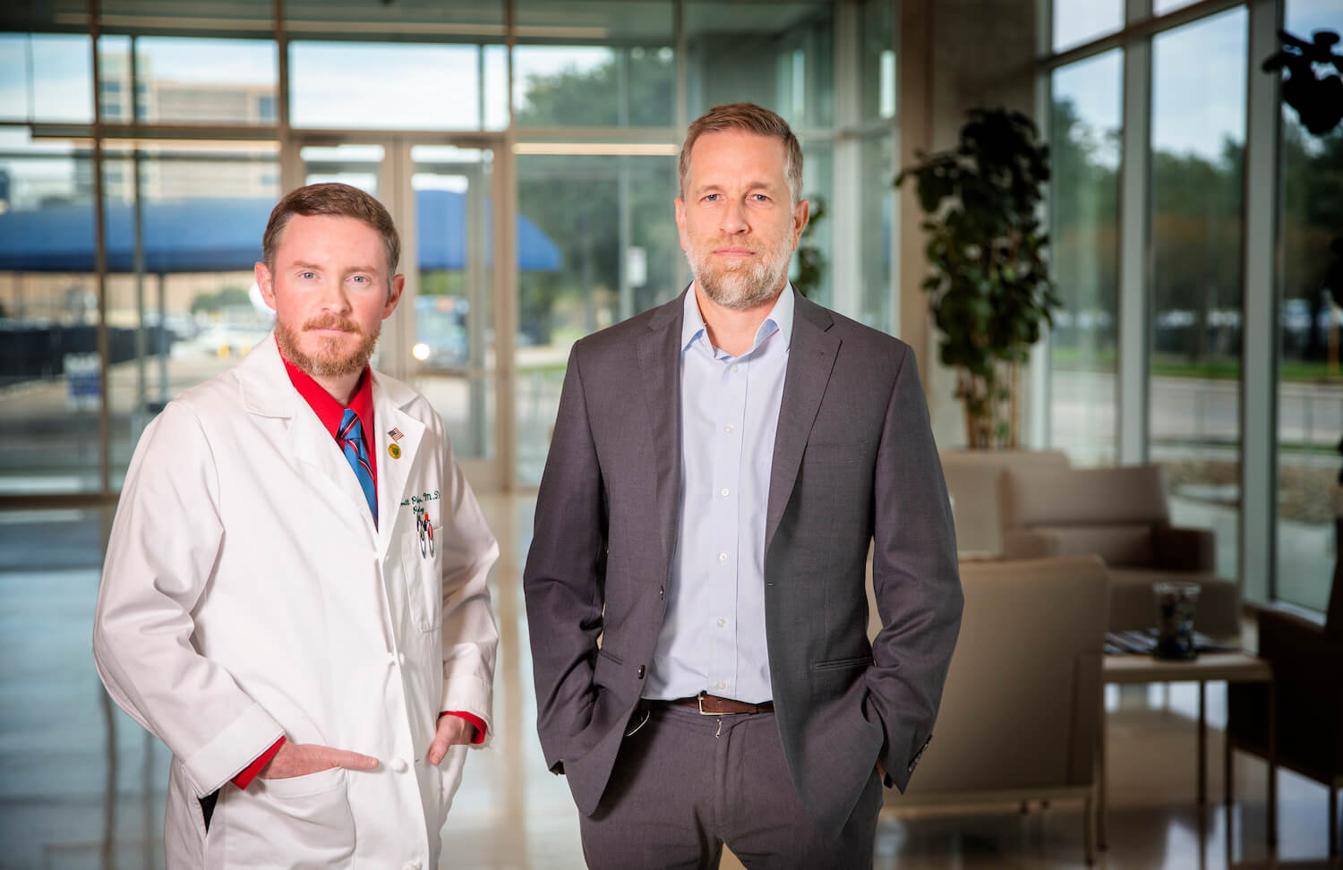 Garrett Phillips, M.D., left, an assistant medical examiner for the Harris County Institute of Forensic Sciences (HCIFS), and Jason Wiersema, Ph.D., the director of forensic anthropology and emergency management at HCIFS.
