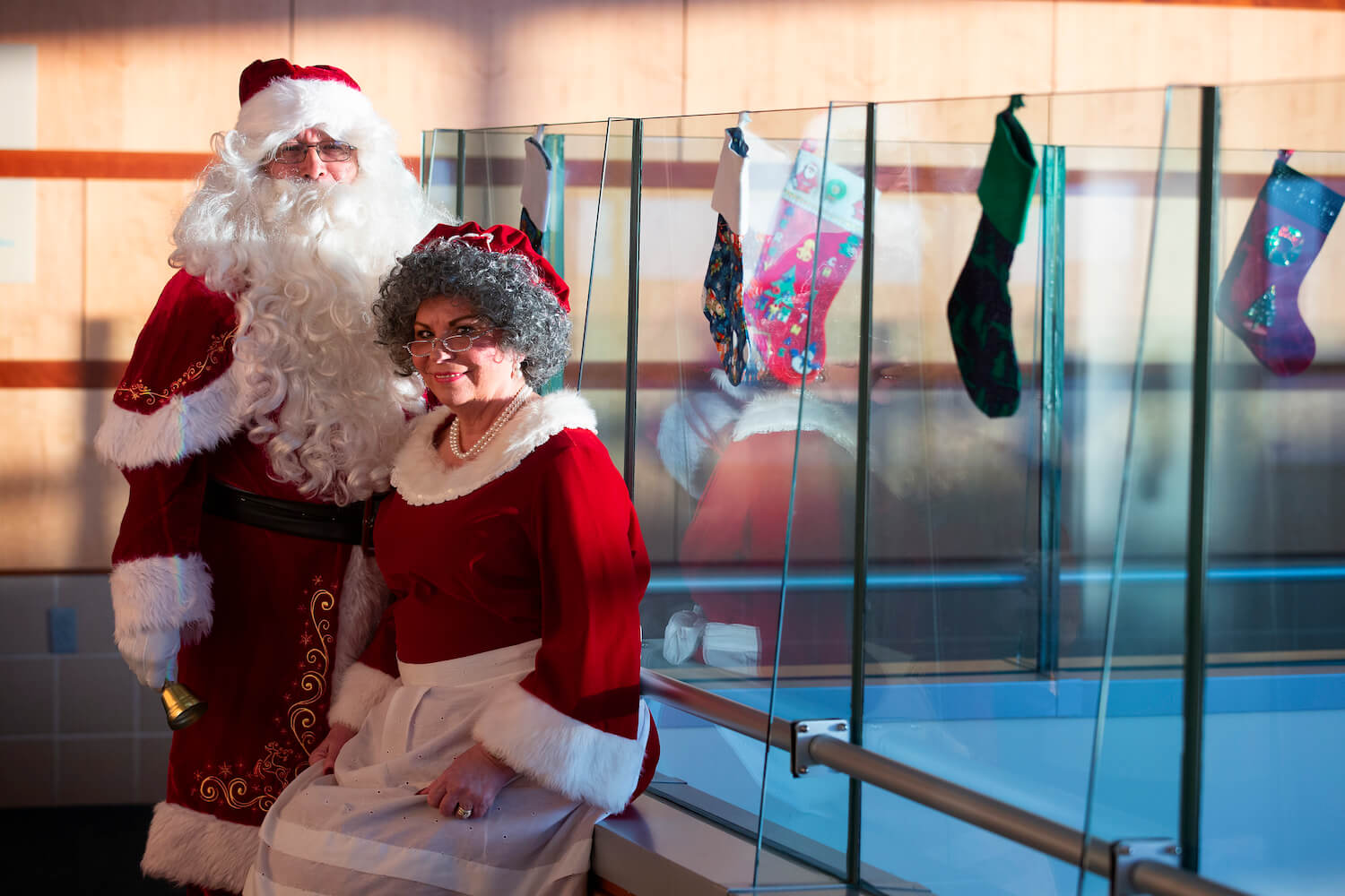 Mr. and Mrs. Claus at Shriners Hospitals for Children – Houston on Dec. 6, 2019.