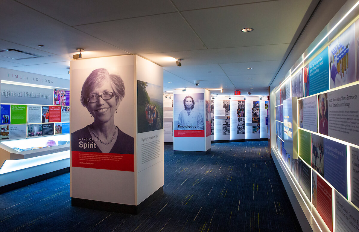 The ever-changing exhibit highlights those who have given their time, resources and energy to MD Anderson Cancer Center.