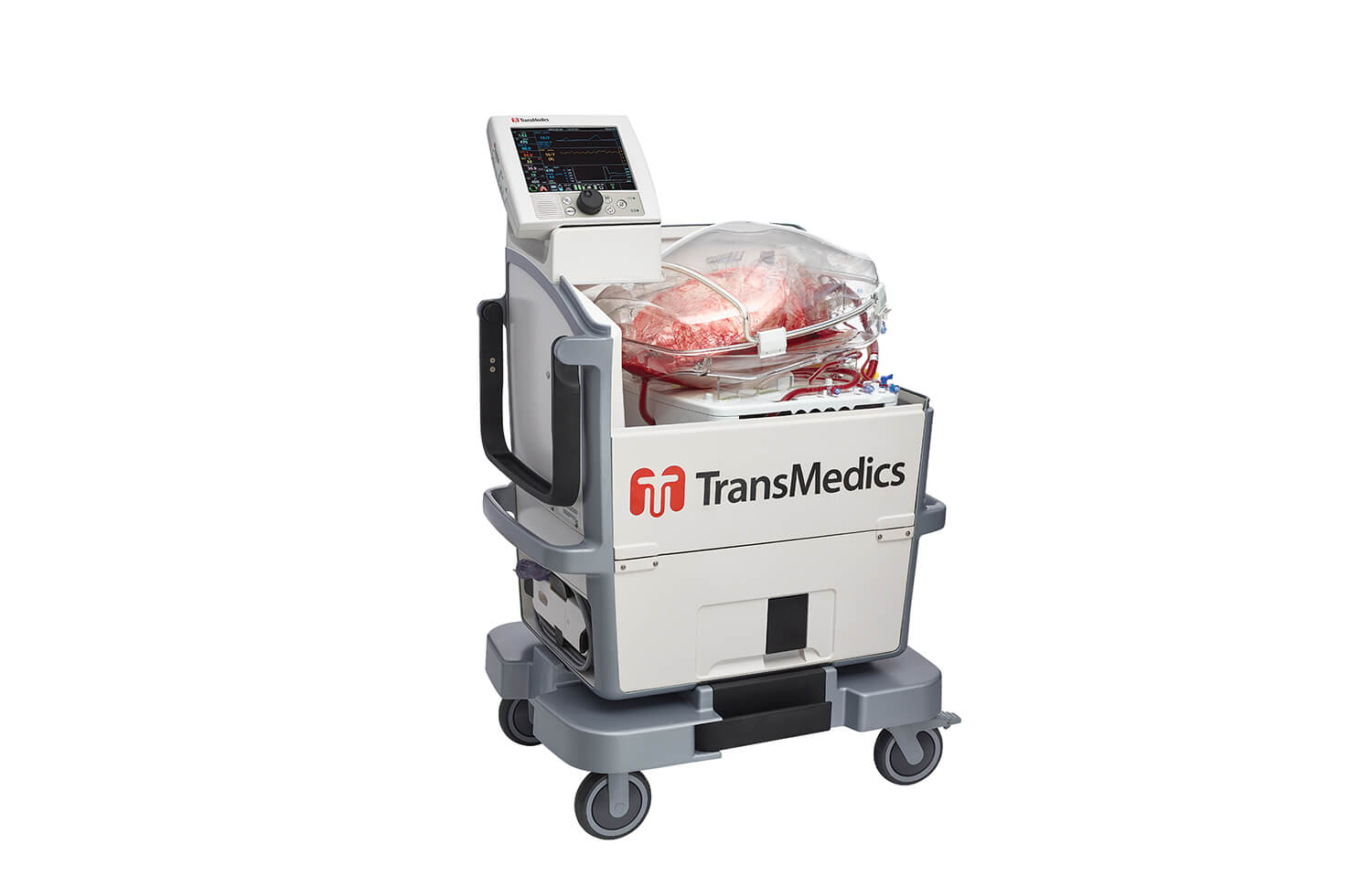 The TransMedics OCS Lung System maintains donor lungs at a steady body temperature.
