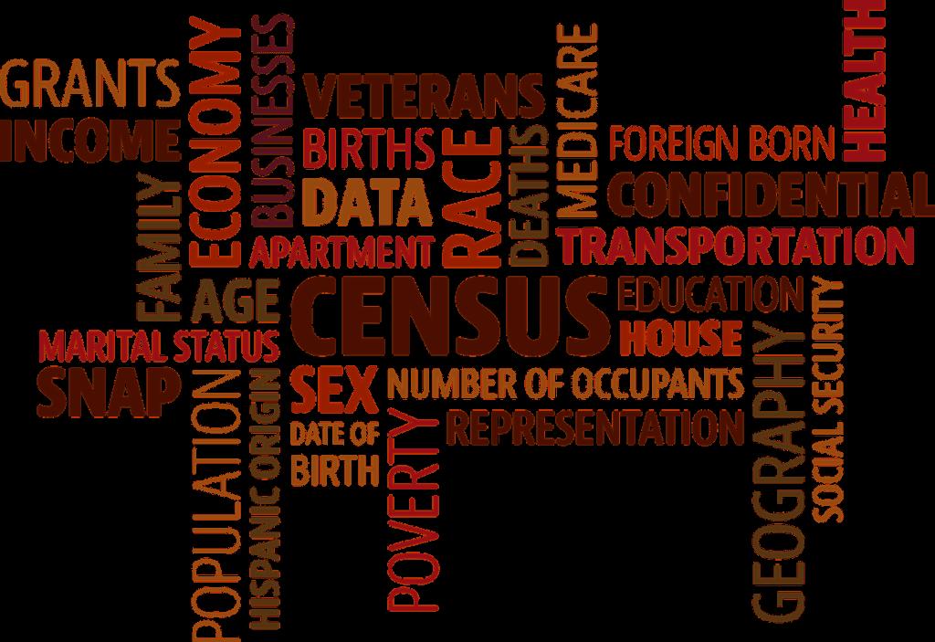 Census word cloud
