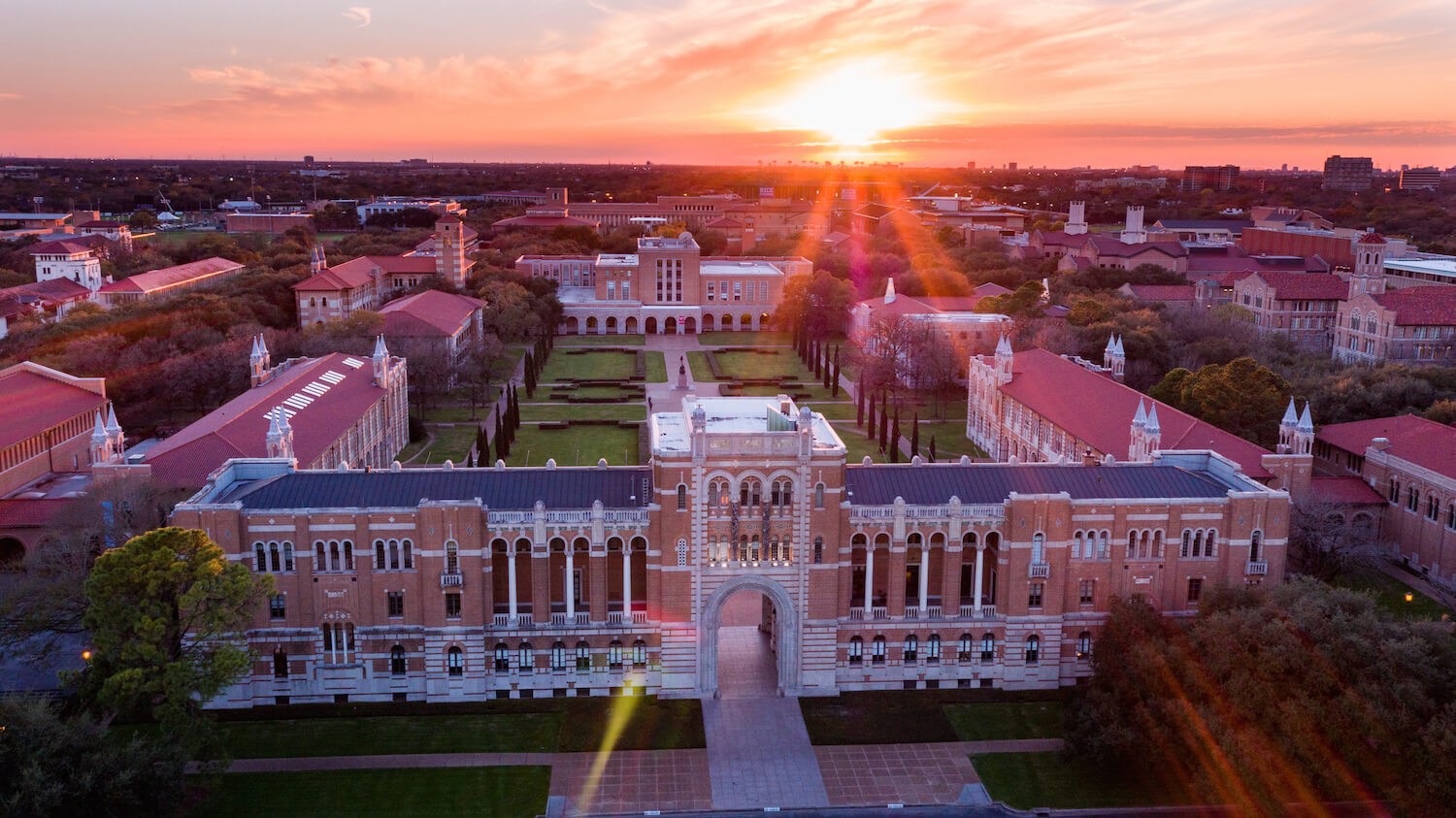 The Rice University campus at sunset. (Courtesy photo)