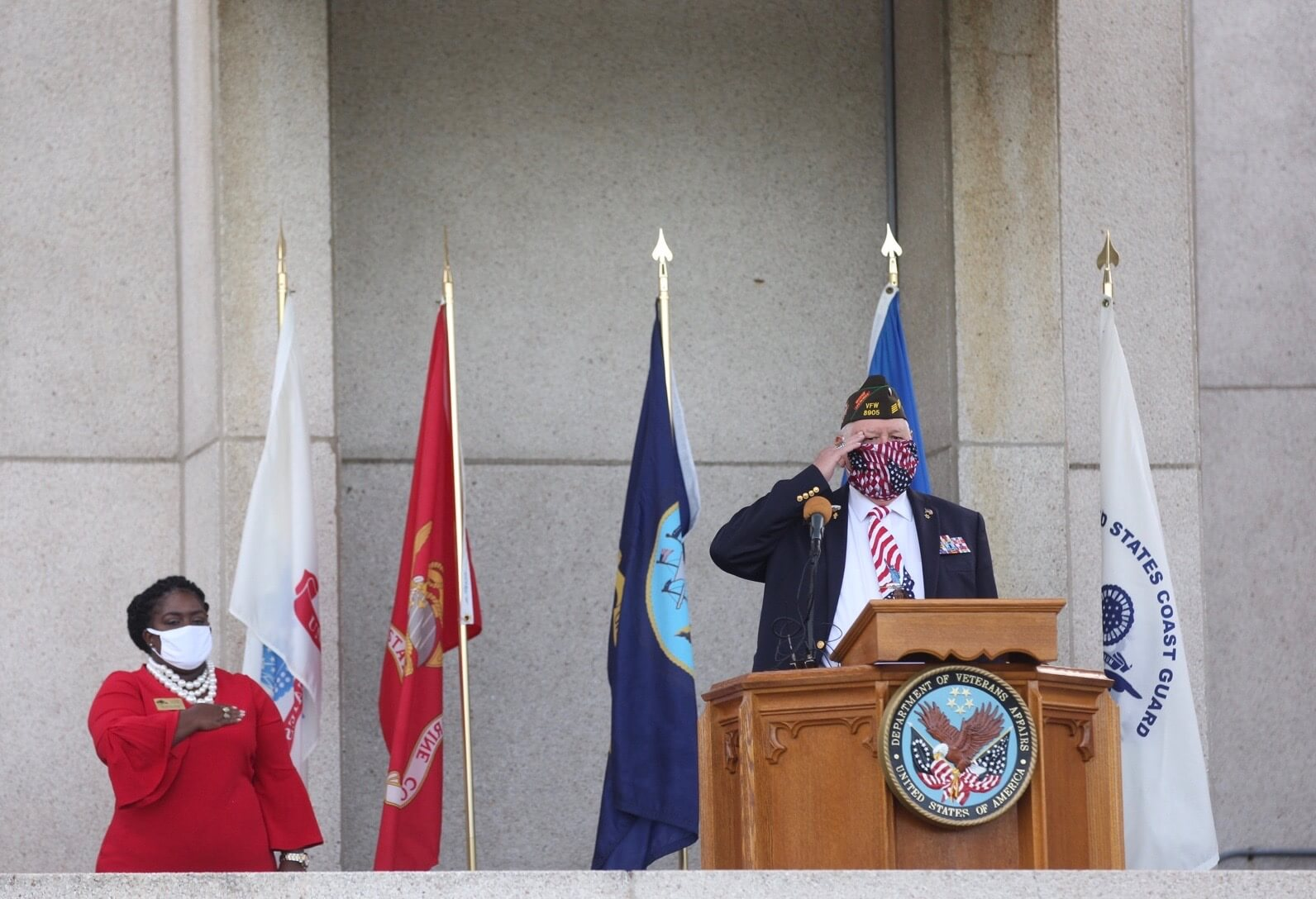 Allan Perkins, president of the National Cemetery Council of Greater Houston, led the Pledge of Allegiance and a Memorial Day prayer.